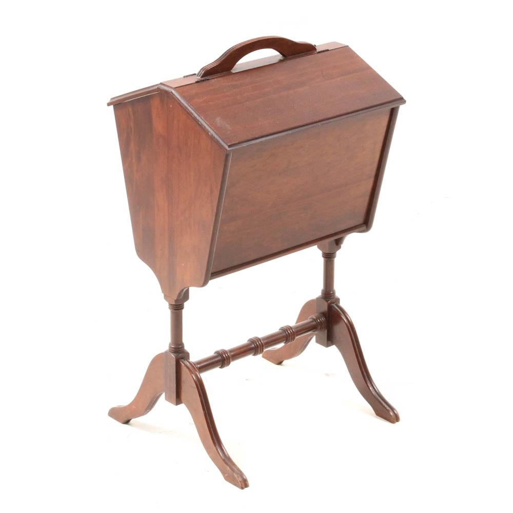 Vintage Walnut Sewing Cabinet