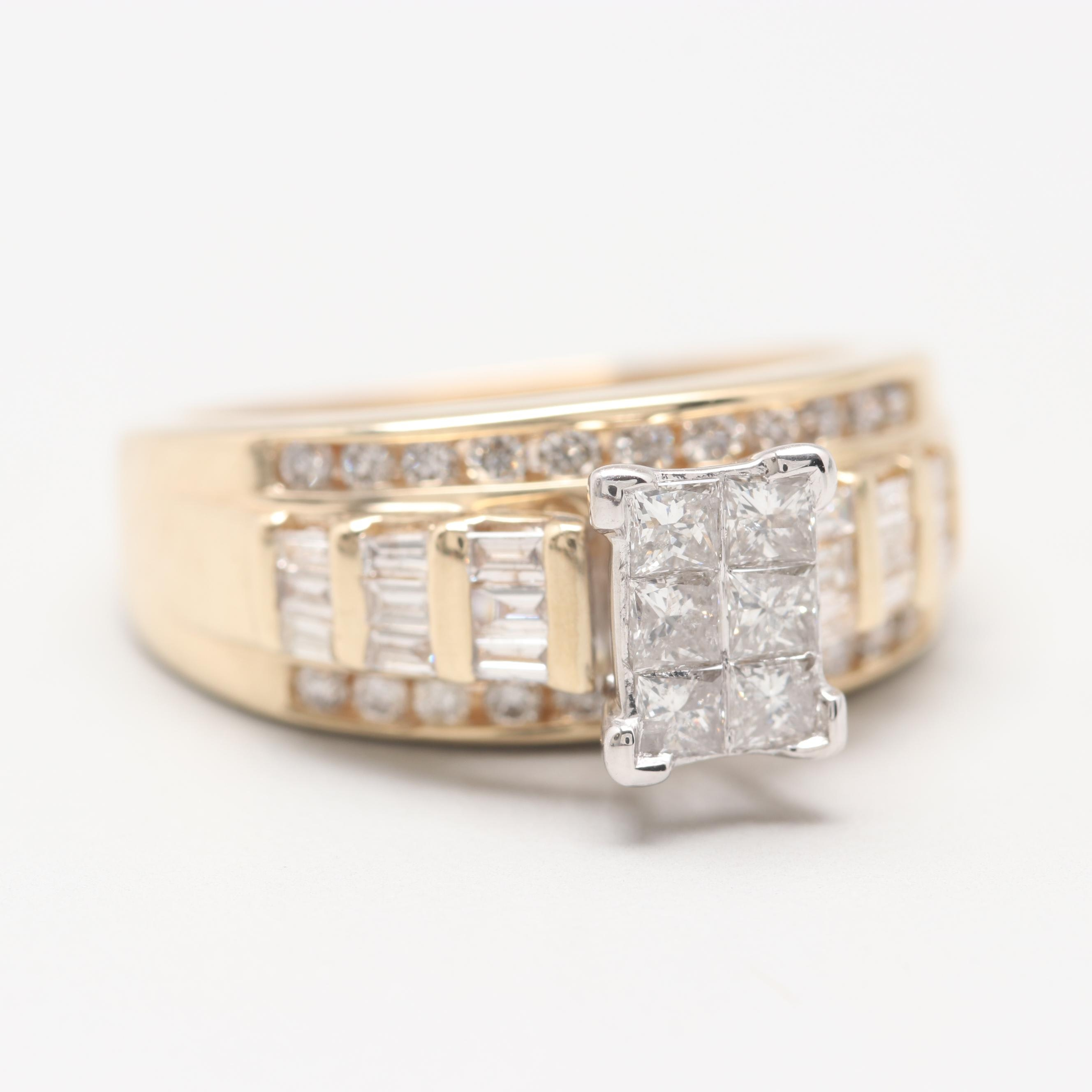 14K Yellow Gold 1.24 CTW Diamond Ring
