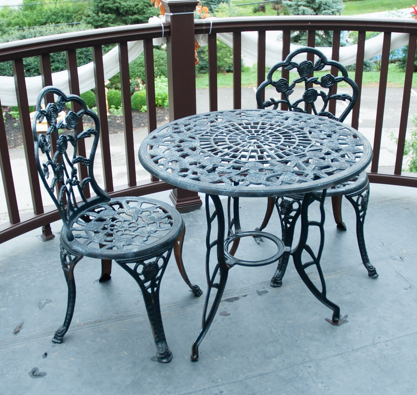 Wrought Iron Bistro Table and Chairs