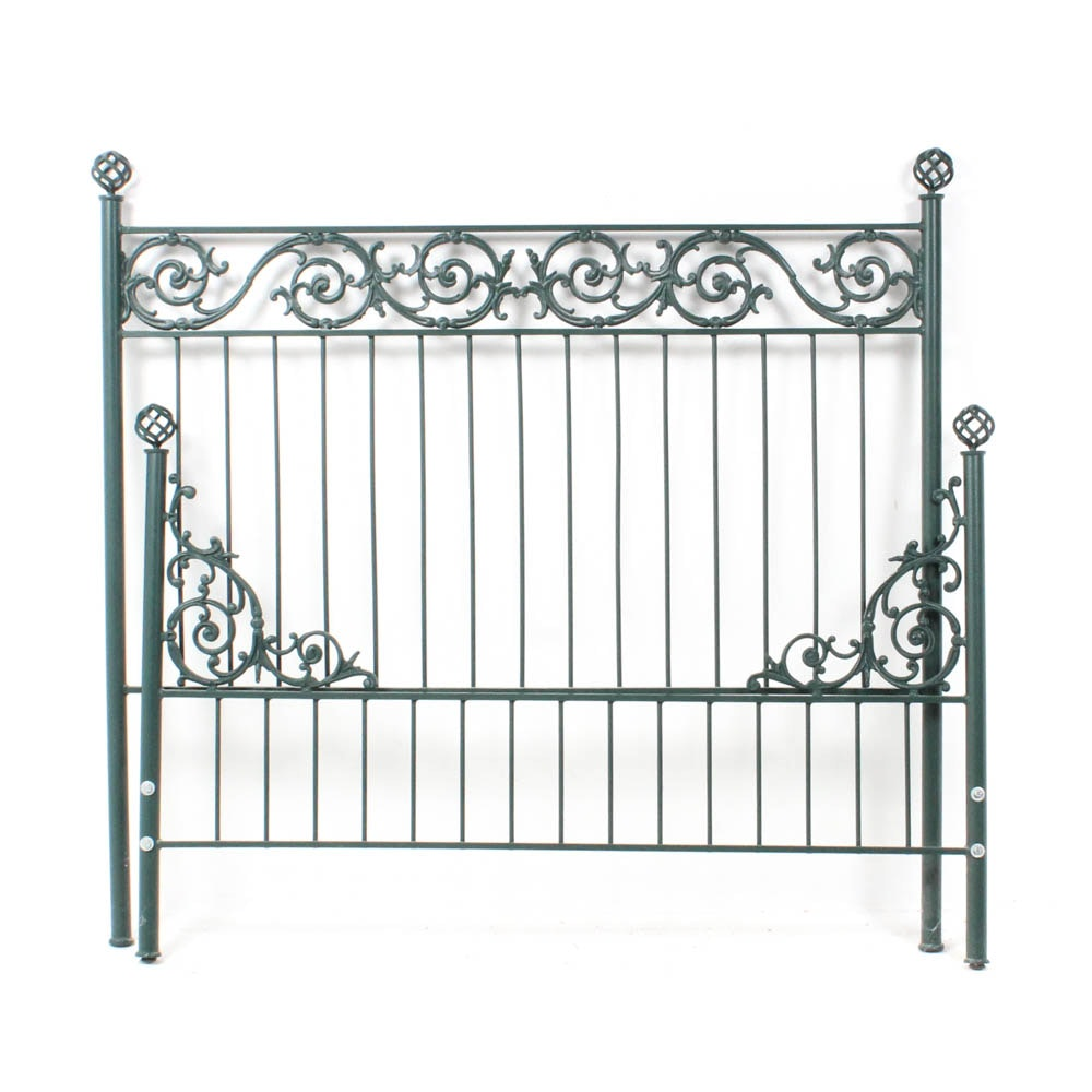 Wrought Metal Queen Size Bed Frame