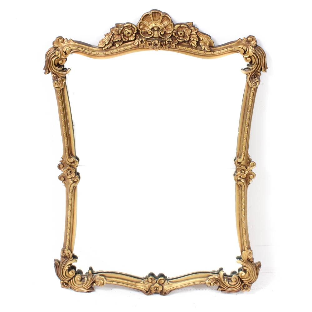 Rococo Style Wood Framed Wall Mirror