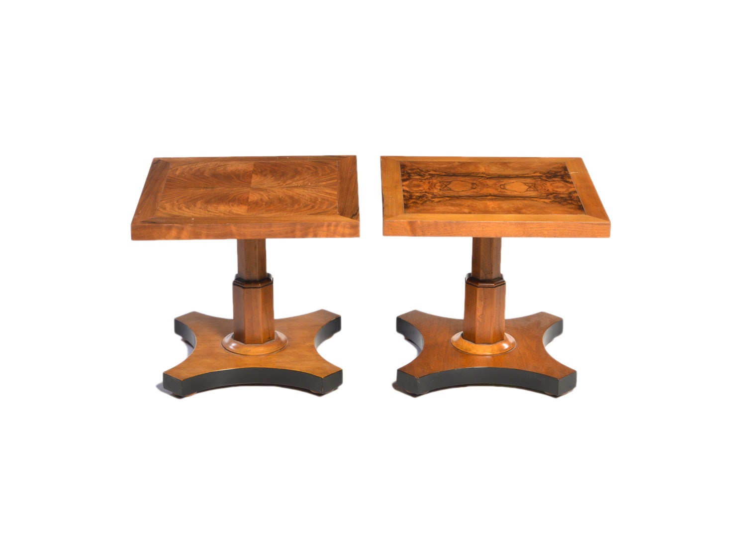 Burl Wood Accent Tables by Baker Furniture