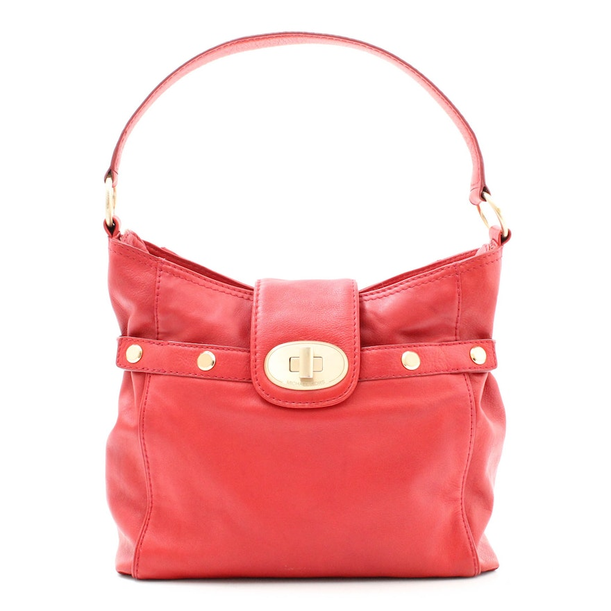 980324e831b2 MICHAEL by Michael Kors Red Leather Hobo : EBTH
