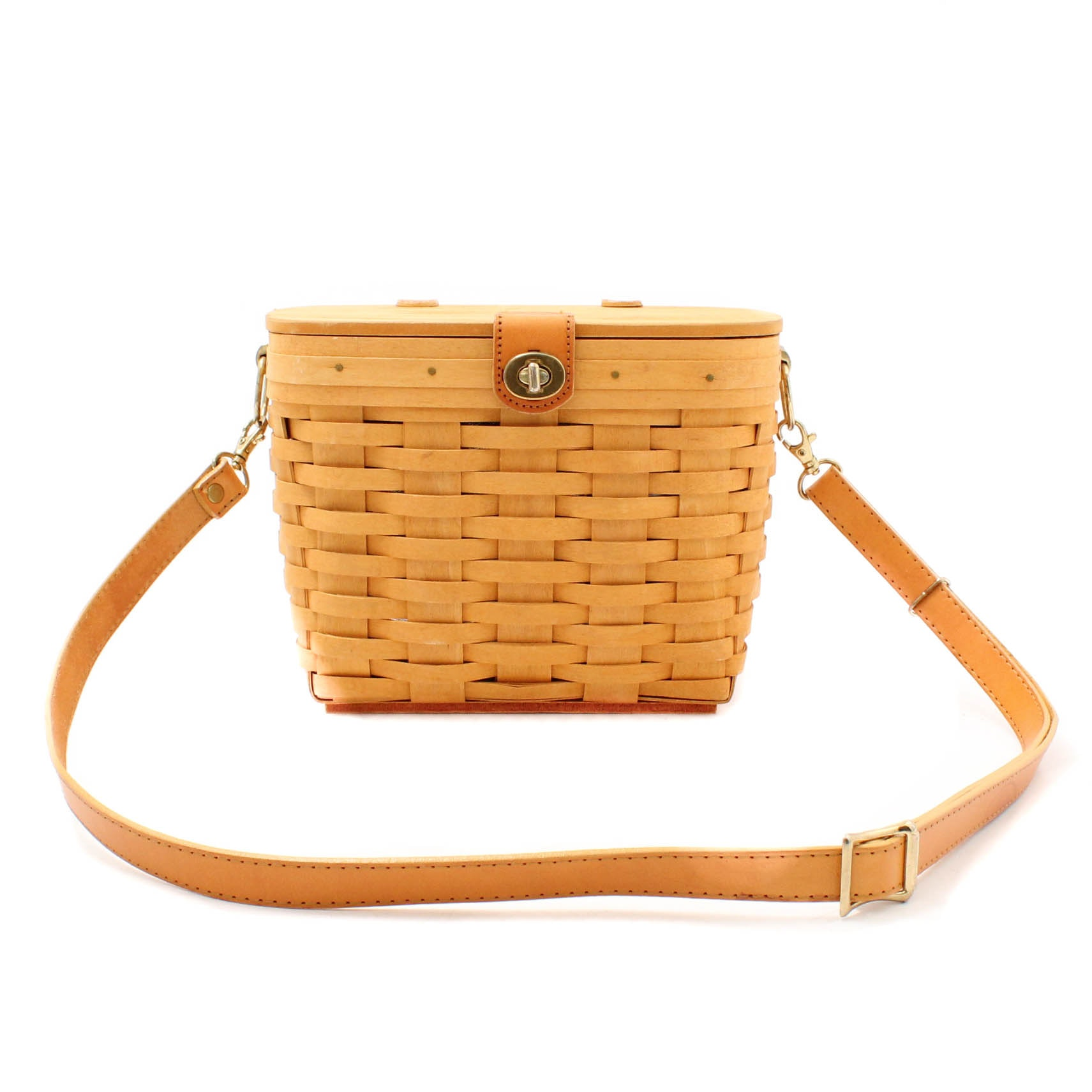 1998 Longaberger Handwoven Basketweave Shoulder Bag