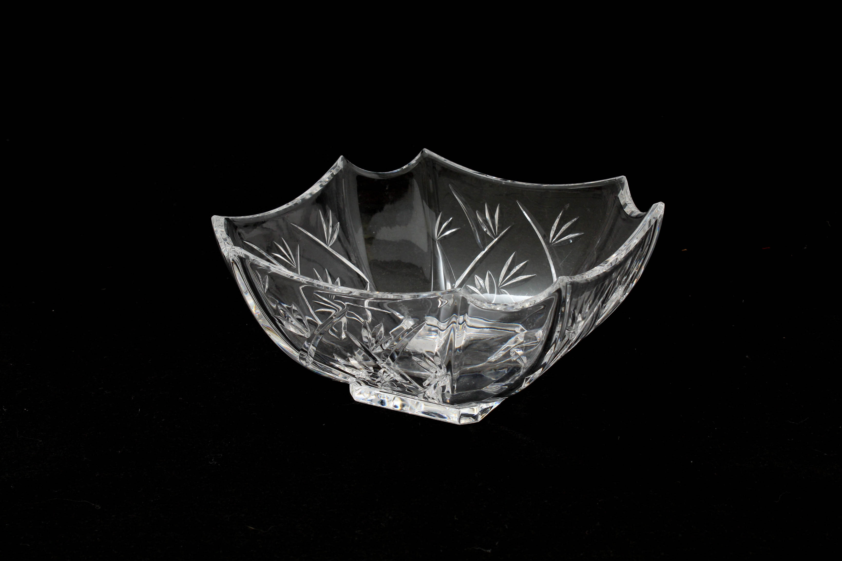 """Waterford Crystal """"Bamboo"""" Square Bowl"""