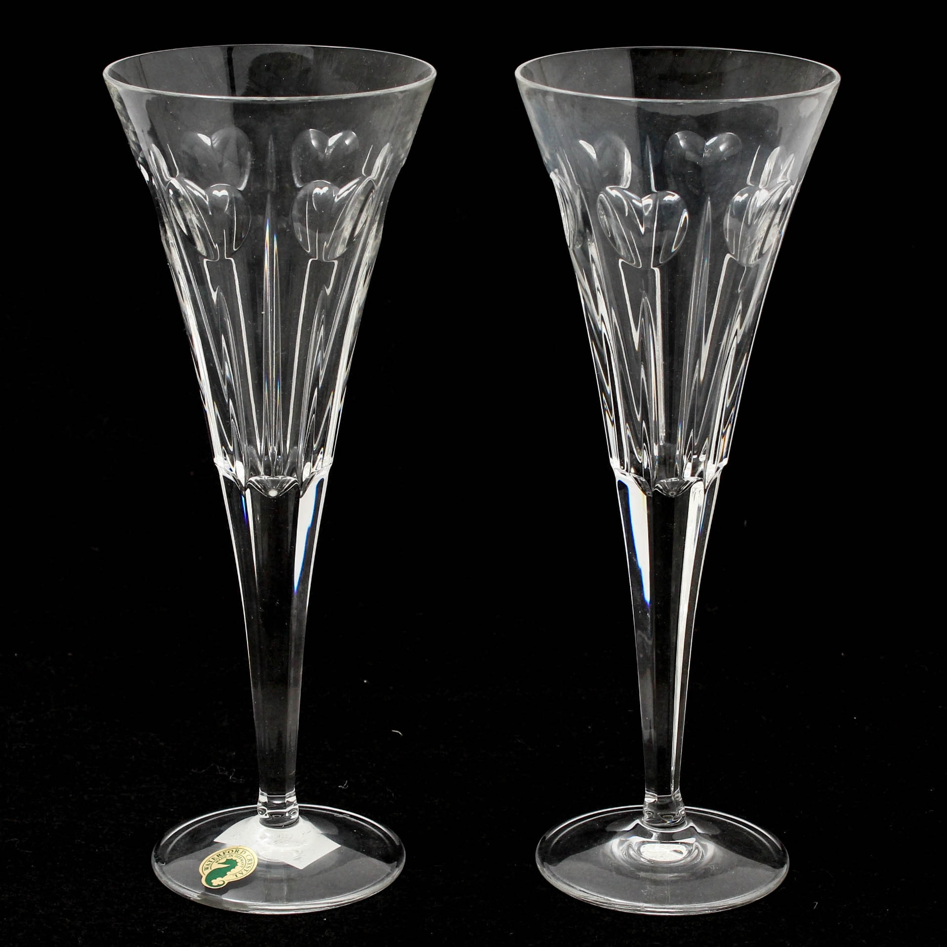 "Waterford Millennium ""Love"" Toasting Flutes"