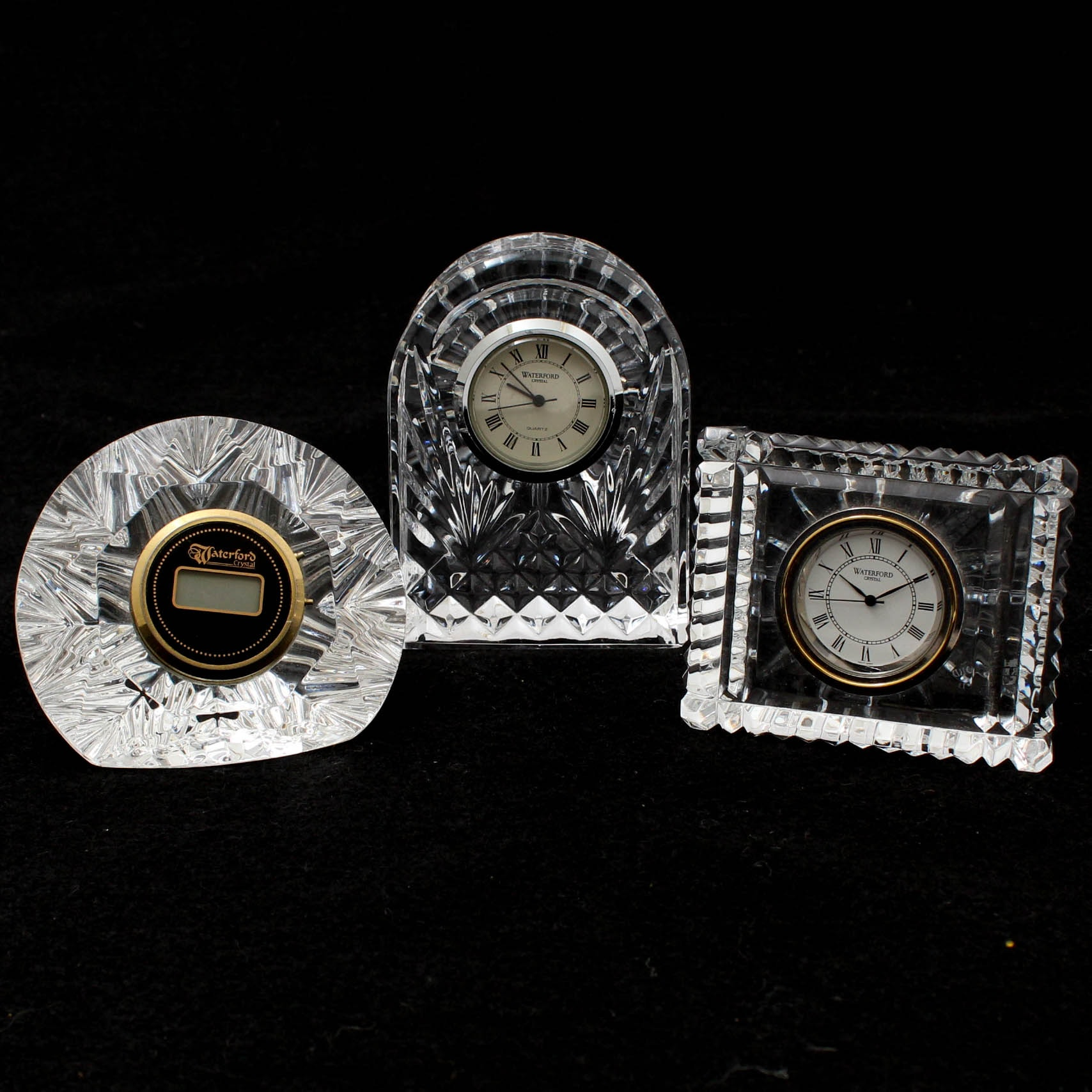 Waterford Crystal Desk Clocks