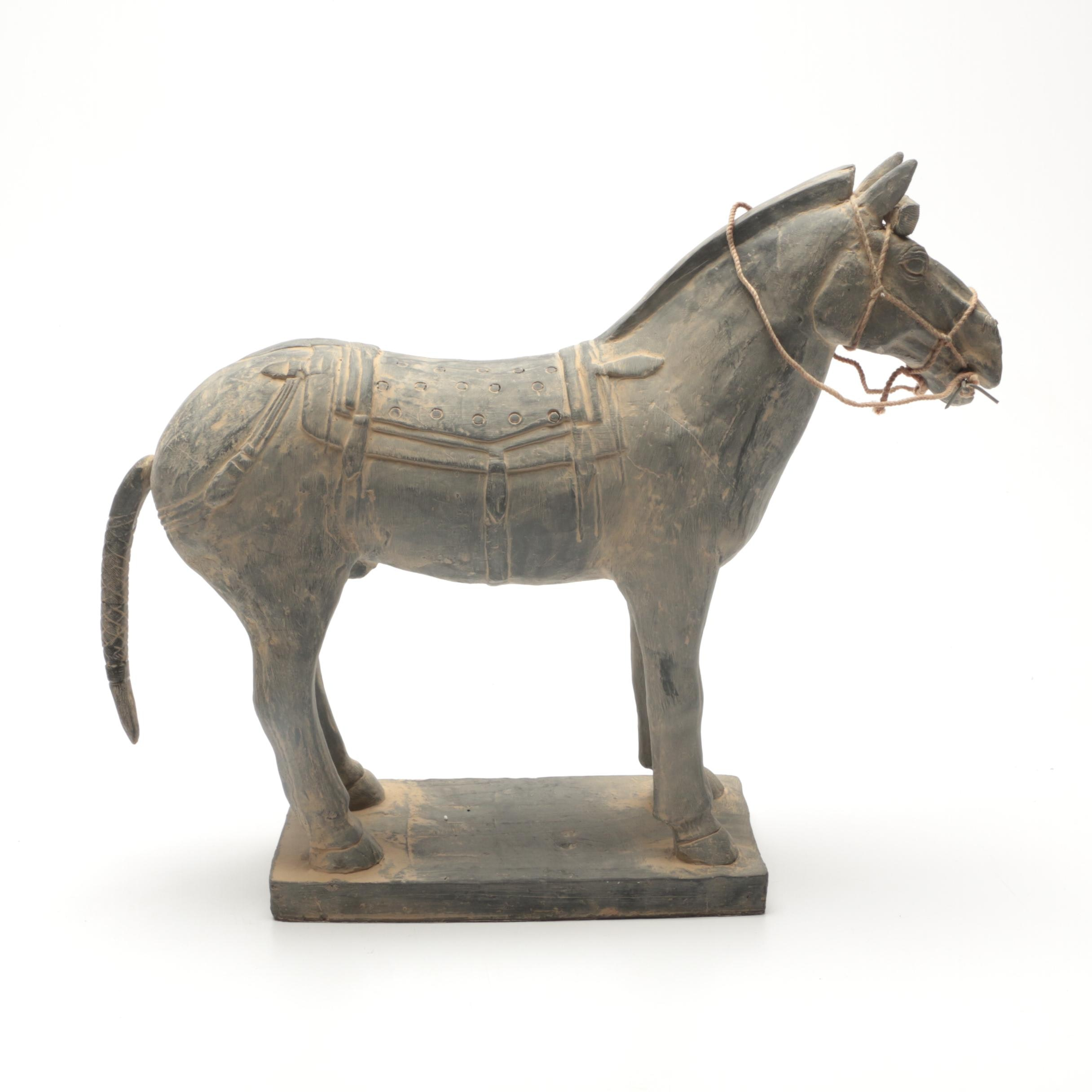Chinese Terra Cotta Army Horse Replica Sculpture