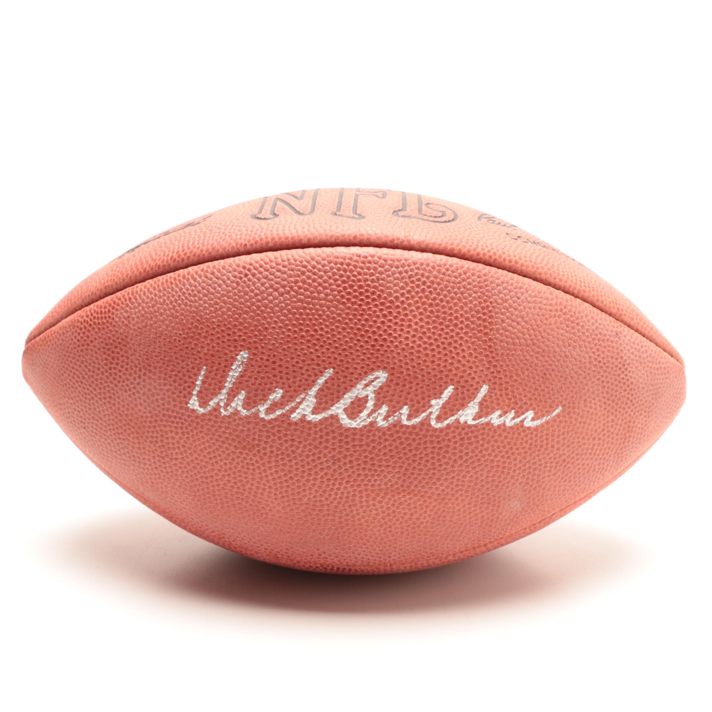Dick Butkus Signed Football  COA