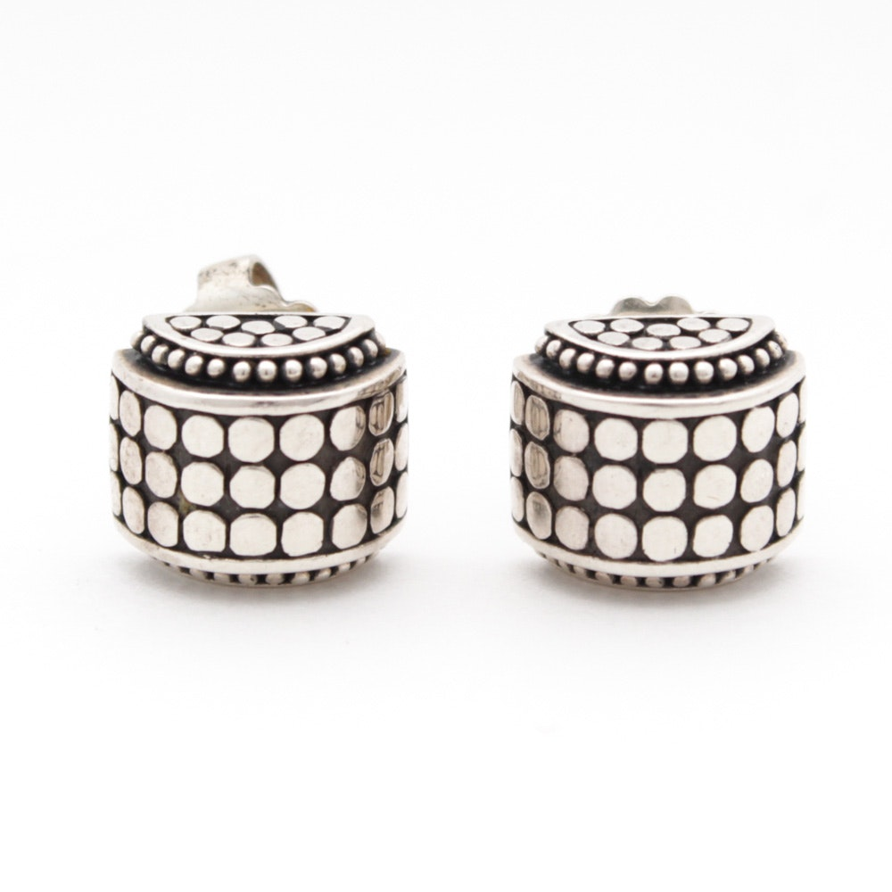 John Hardy Dot Collection Sterling Silver Earrings