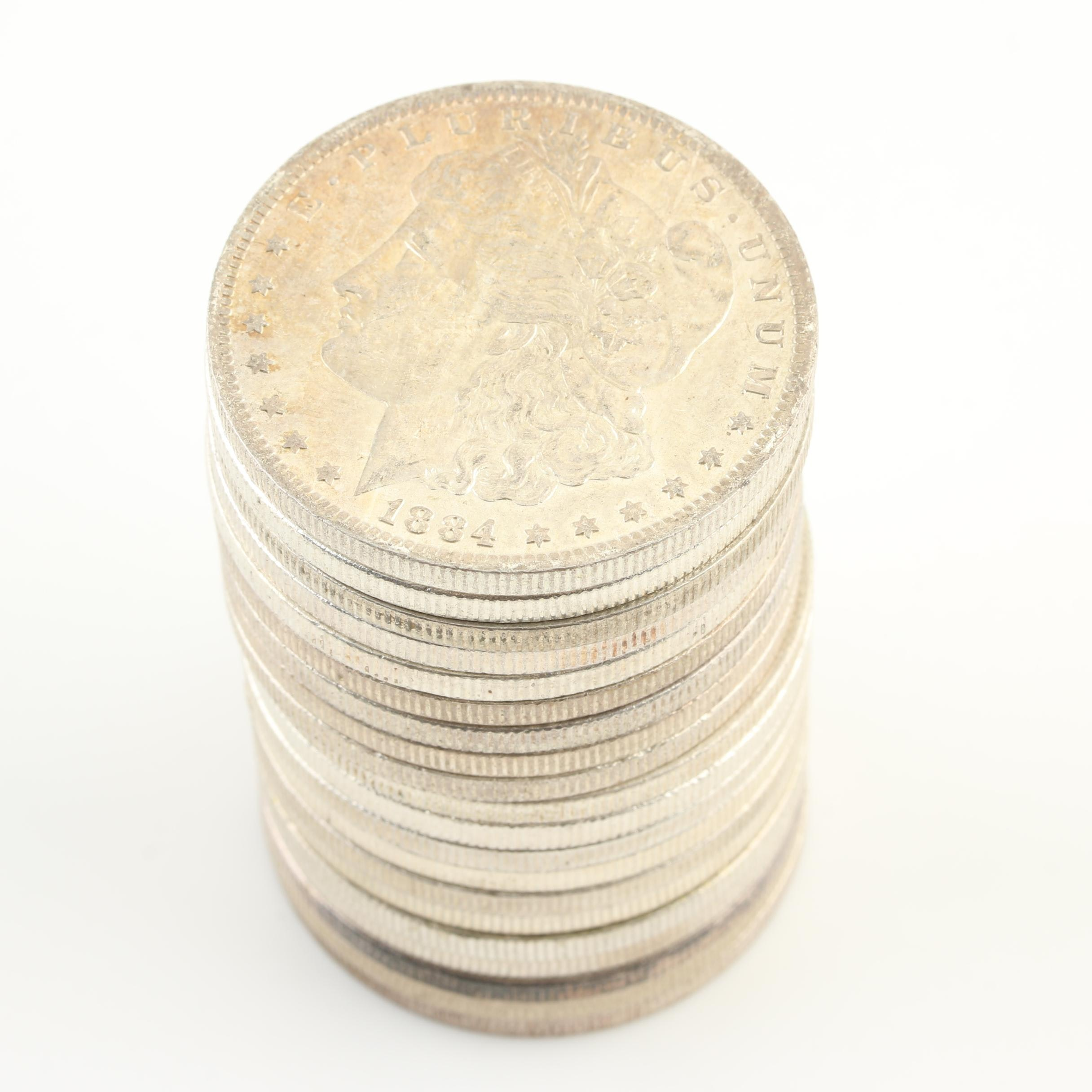 Group of Twenty Uncirculated 1884-O Silver Morgan Dollars
