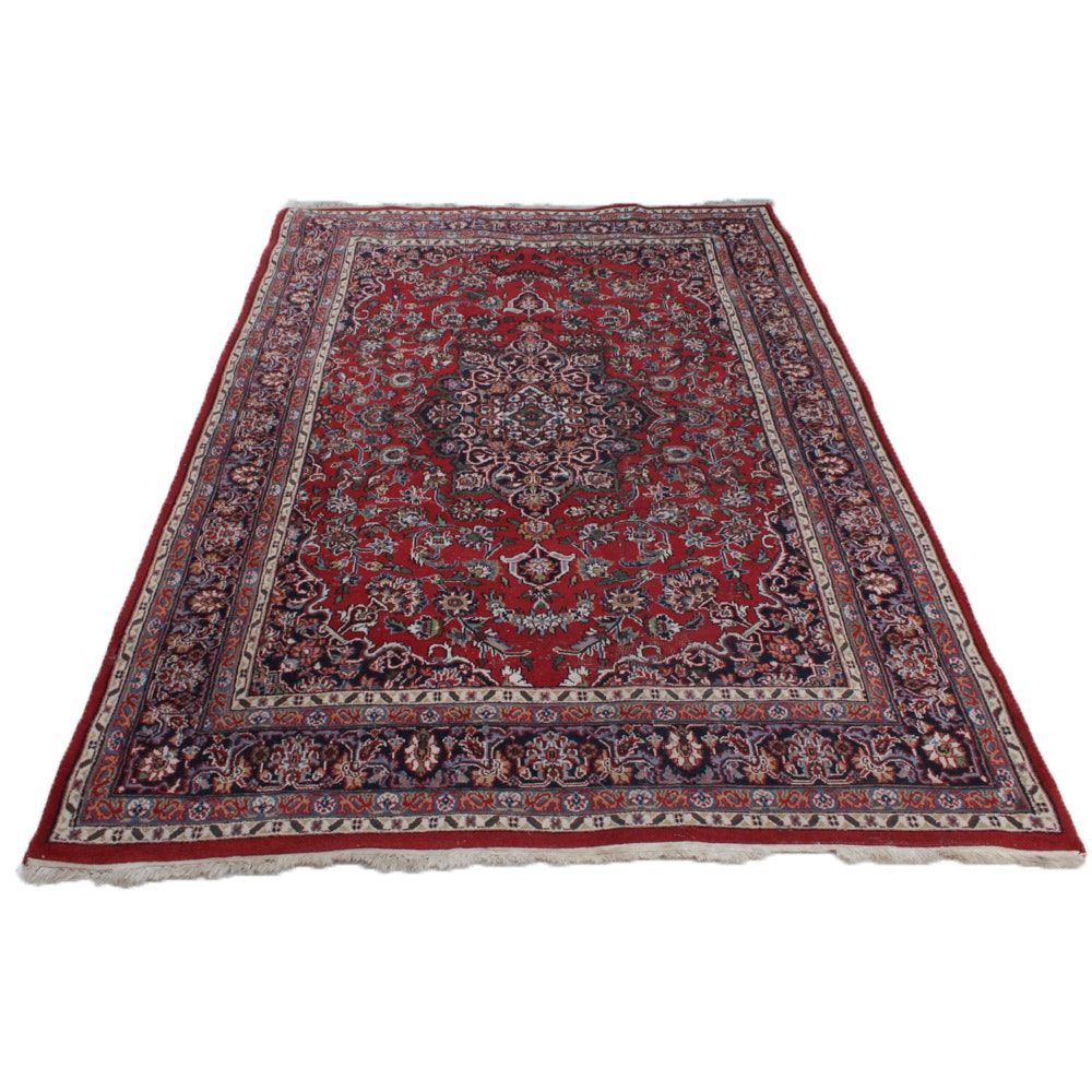 Vintage Hand-Knotted Indo-Persian Area Rug