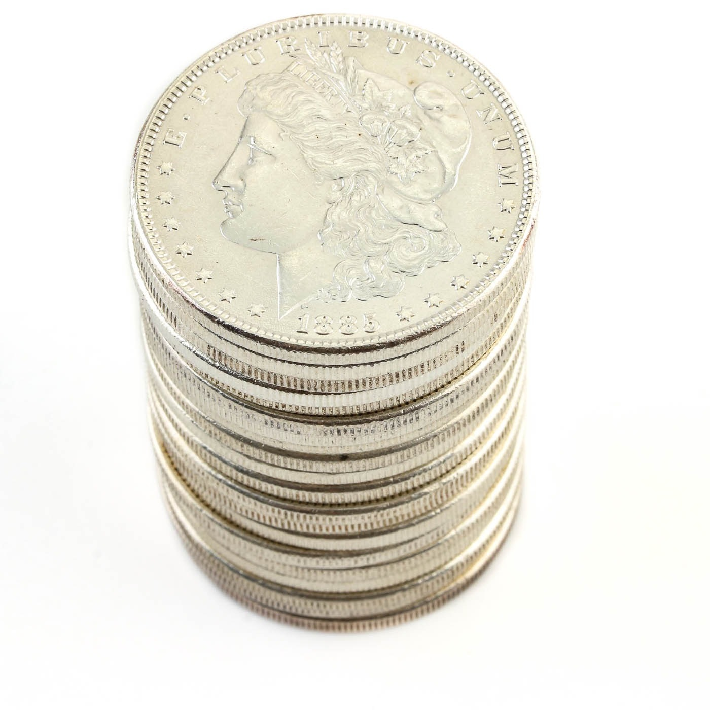 Group of Twenty Uncirculated 1885 Silver Morgan Dollars