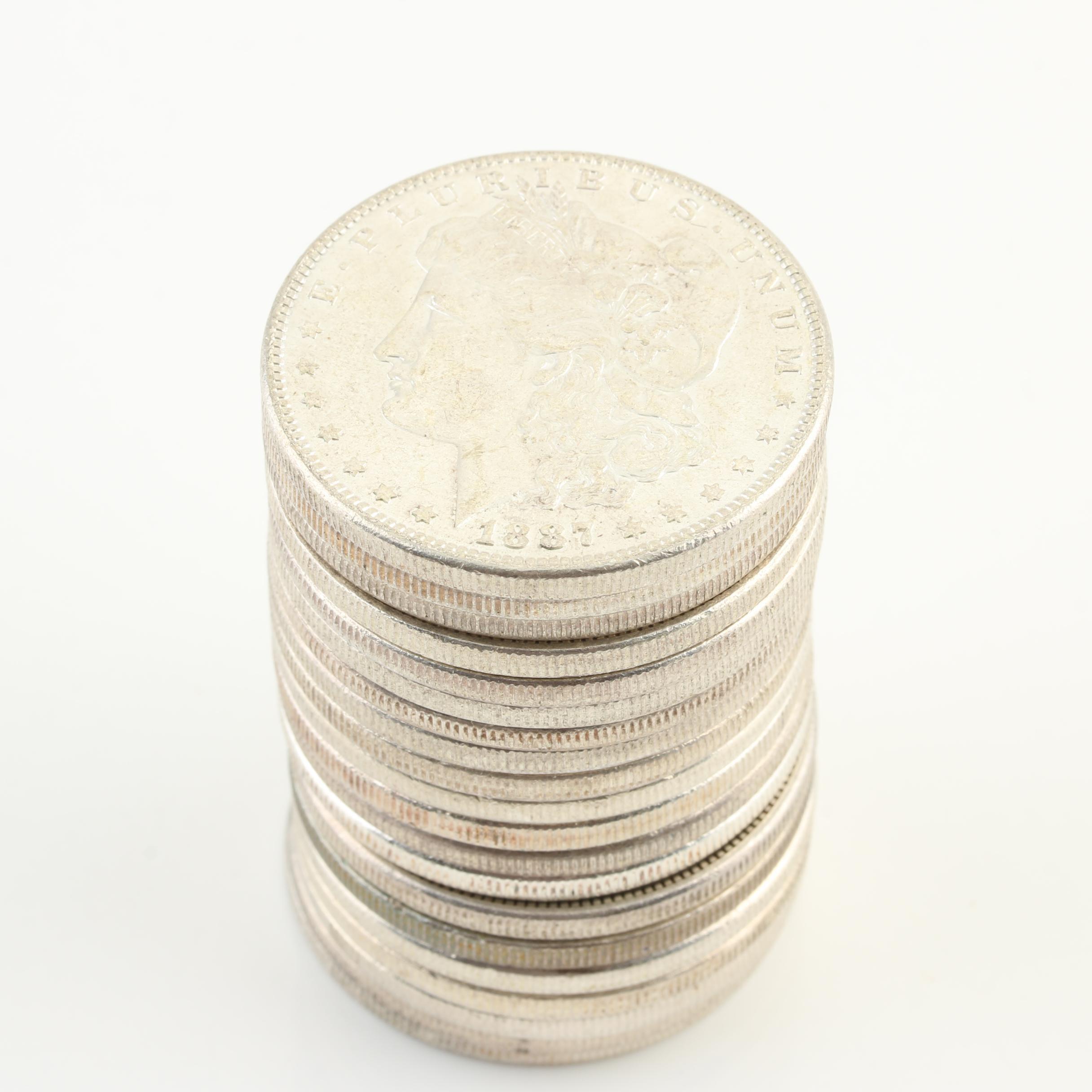 Group of Twenty Uncirculated 1887 Silver Morgan Dollars