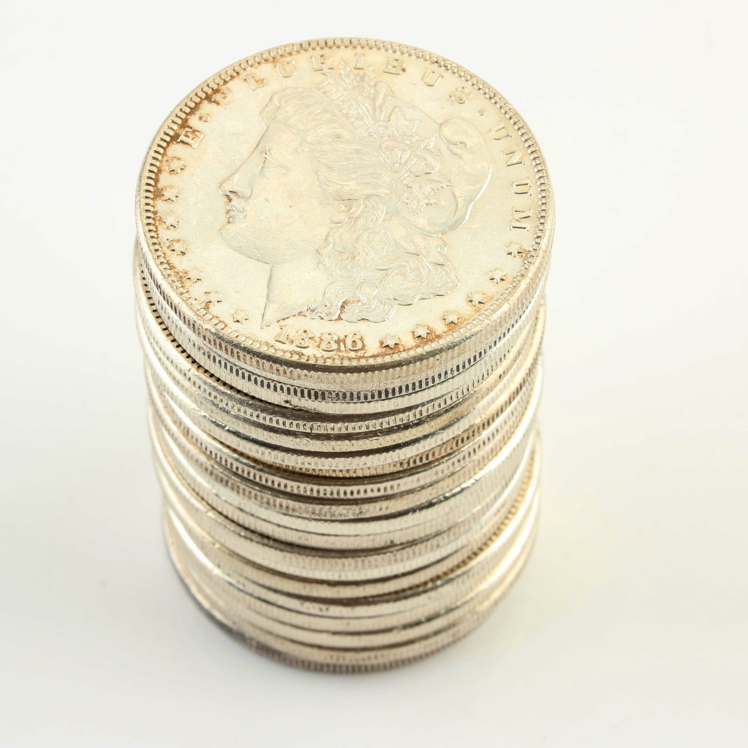 Group of Twenty Uncirculated 1886 Silver Morgan Dollars