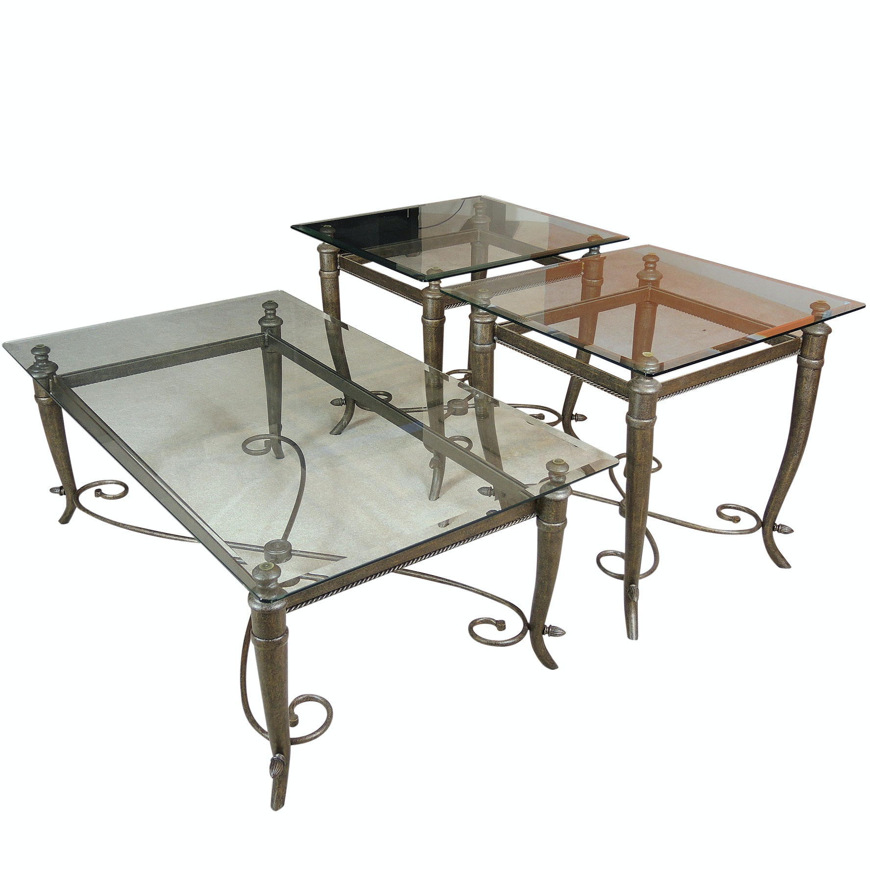 Contemporary Glass and Metal Tables