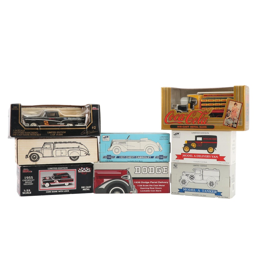 Die Cast Coin Banks Including Coca Cola Ebth