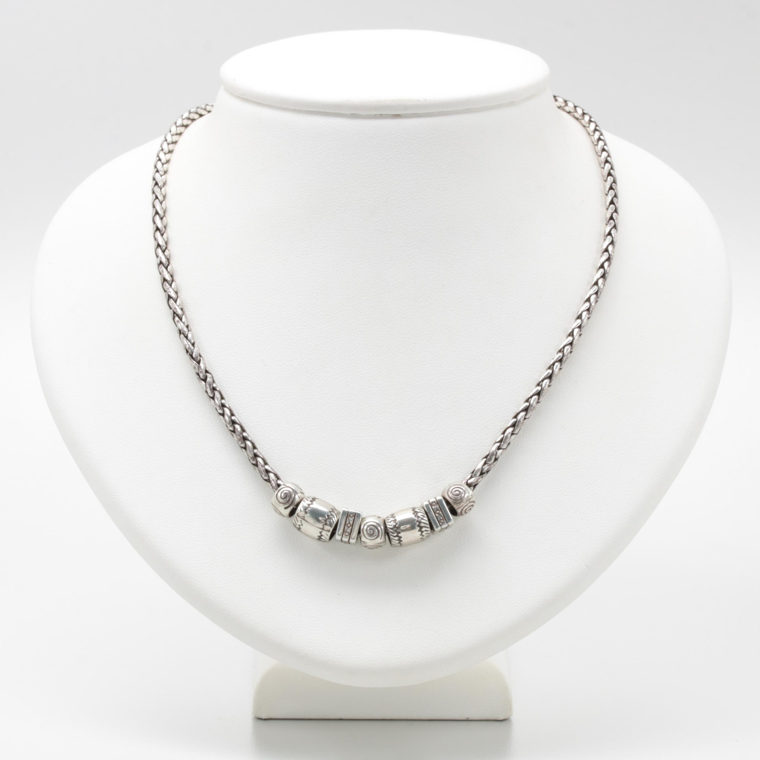 Silvertone Charm Necklace