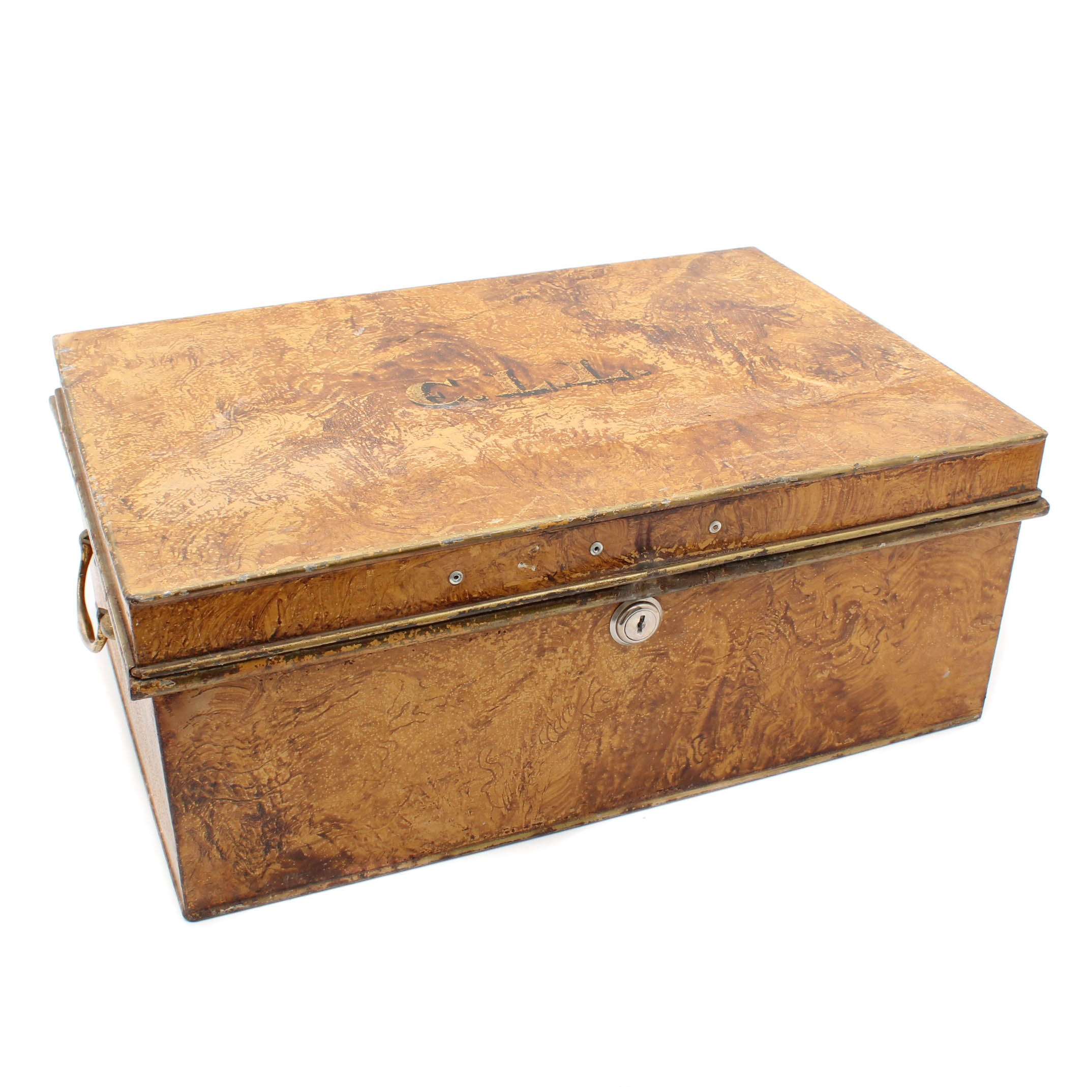 Vintage C. Chubb & Son Metal Lockbox