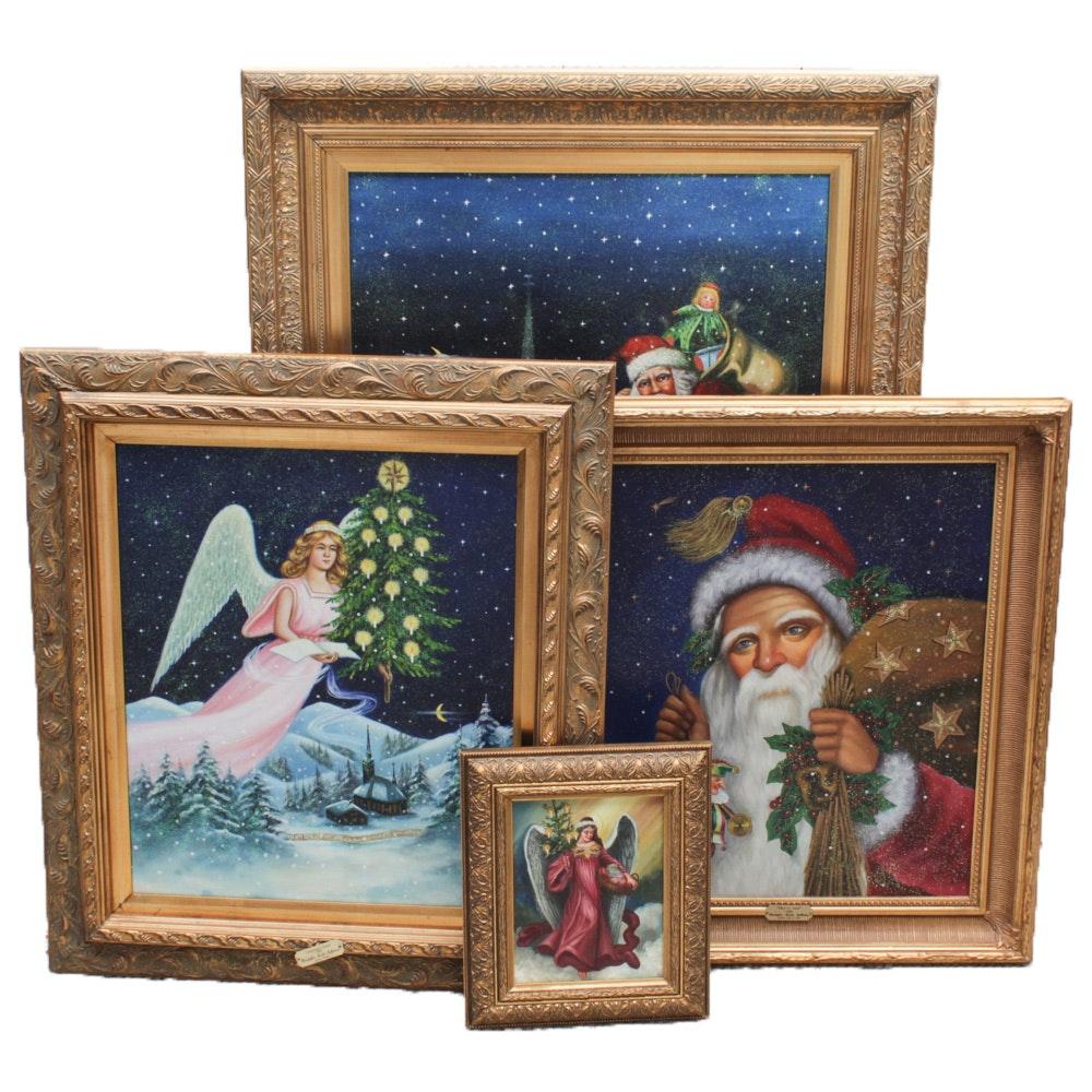 Framed Christmas Giclees After Christopher Radko