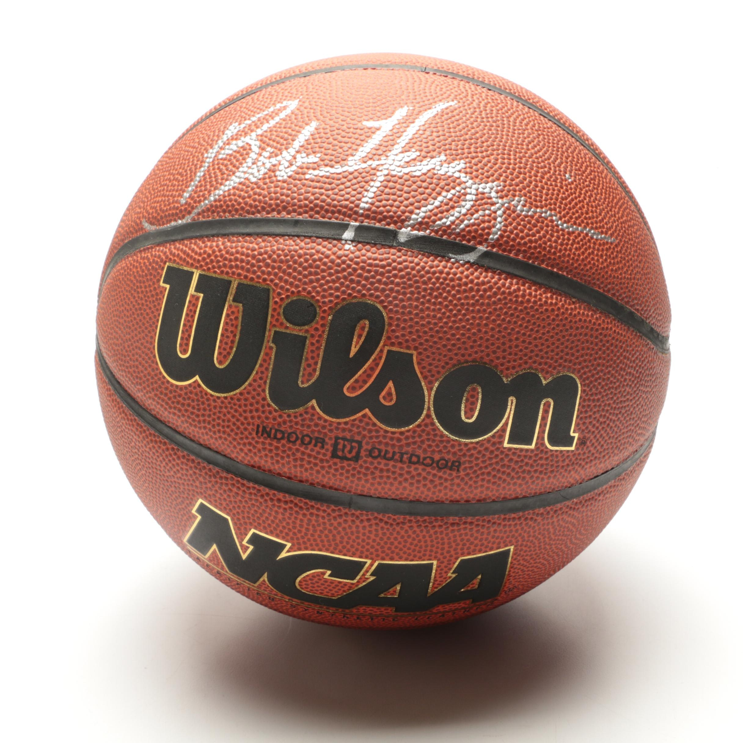 Bob Huggins Signed NCAA Basketball with Case