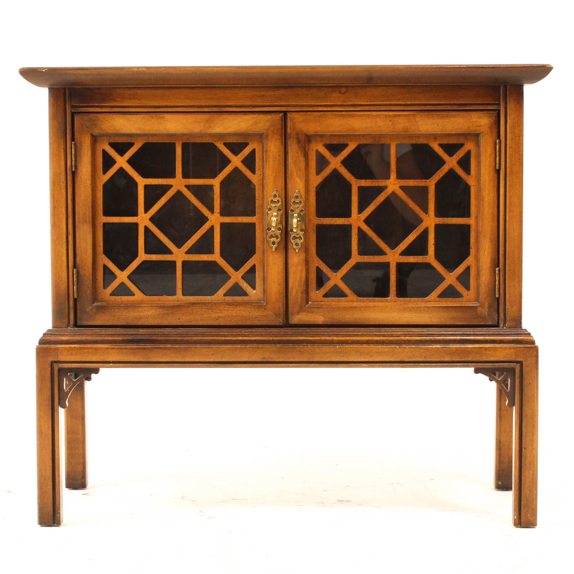 Contemporary Chinese Chippendale Hardwood Cabinet