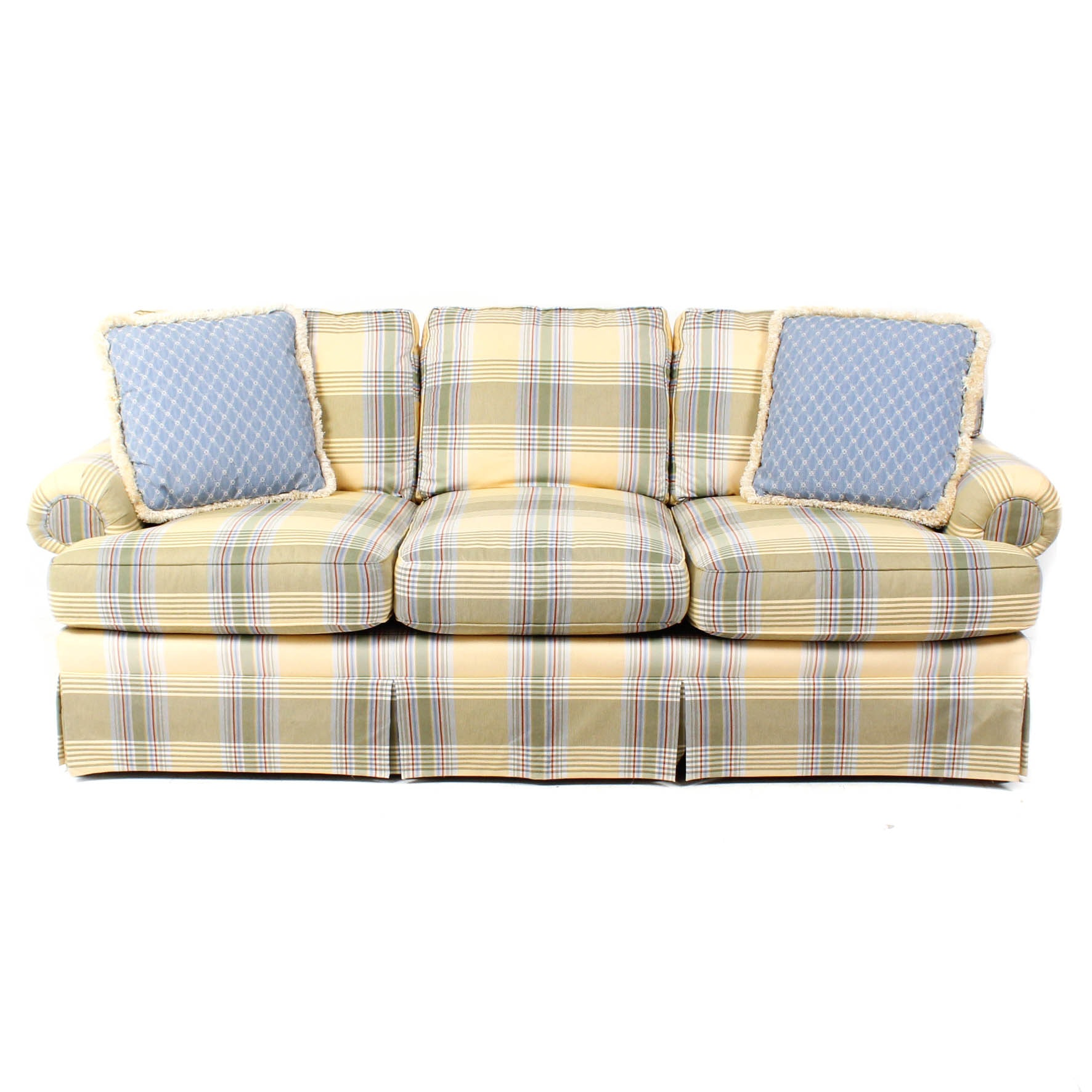 Taylor & King Plaid Couch