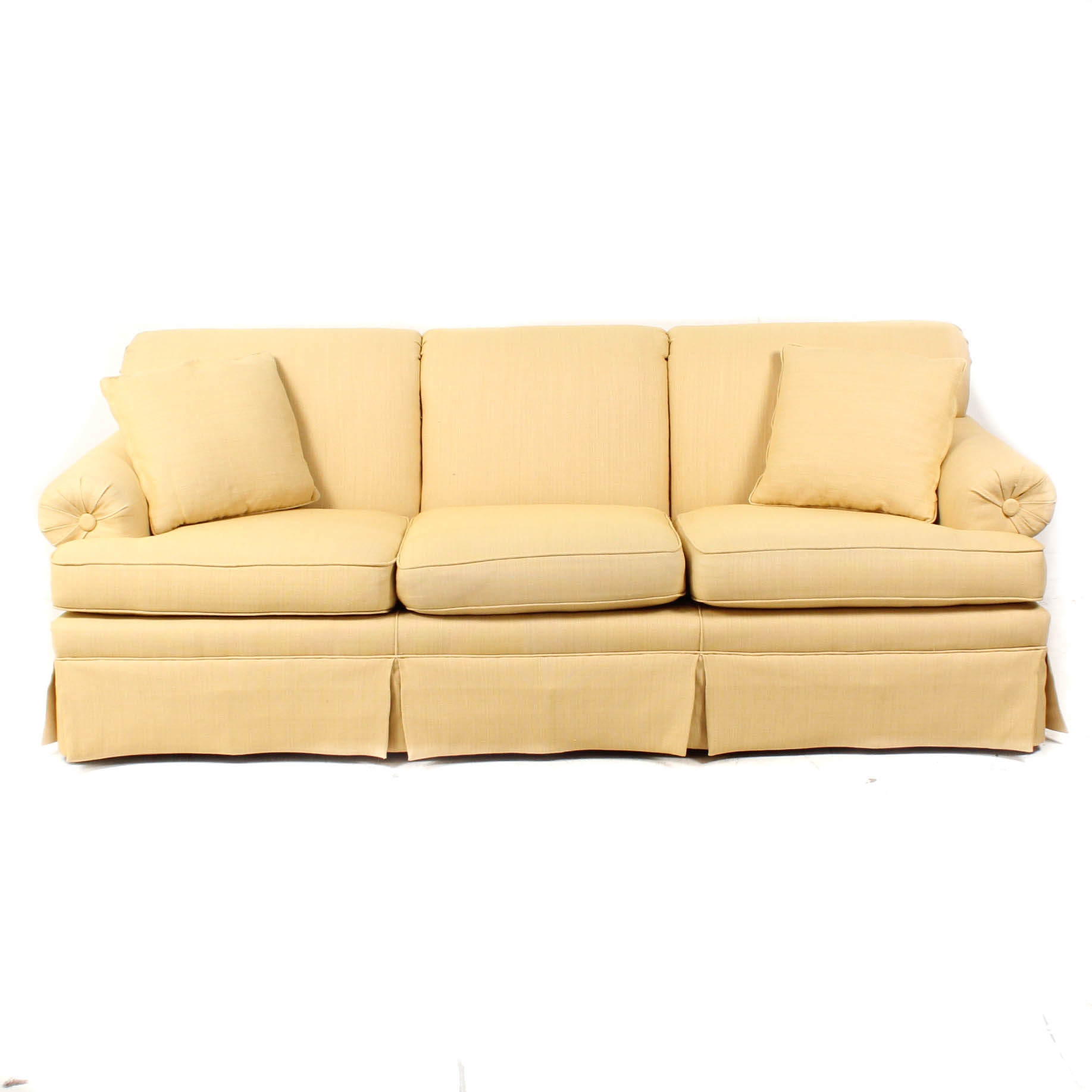 Yellow Upholstered Contemporary Couch