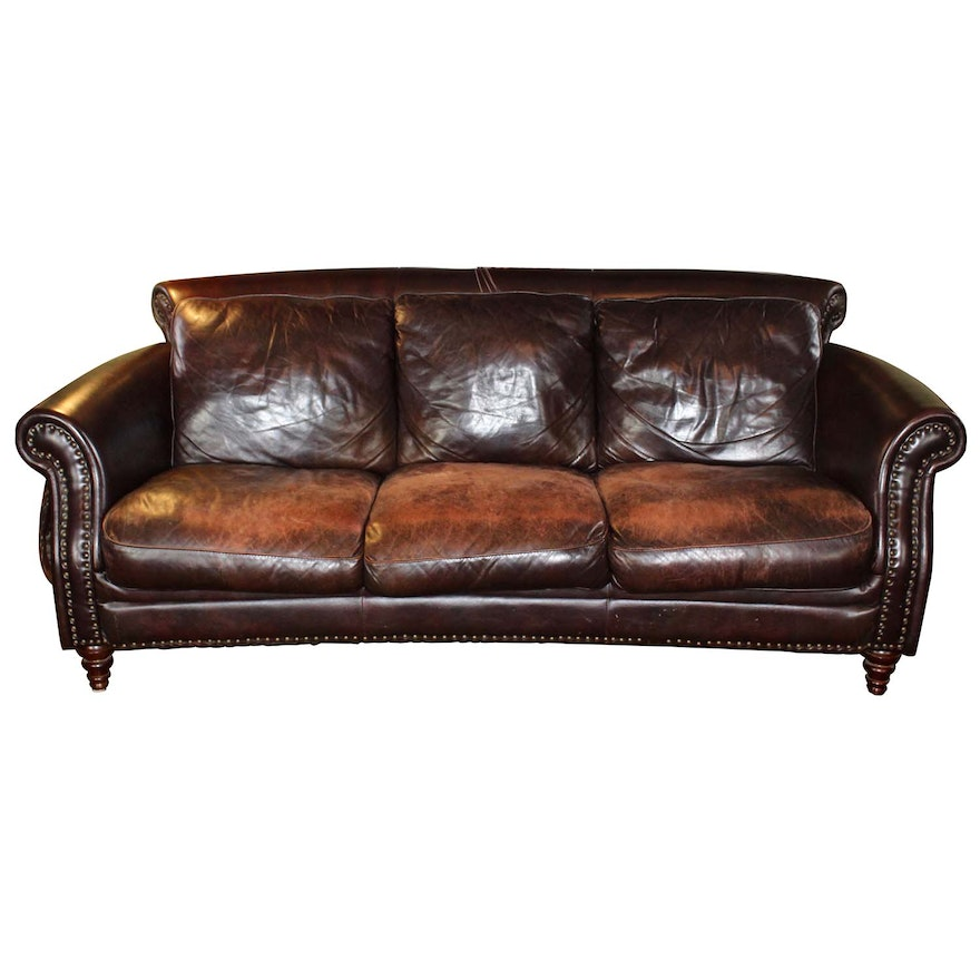 Decoro Decoro Off White Leather Sofa Sofas: Leather Studded Sofa Brown Leather Sofa Remarkable Studded