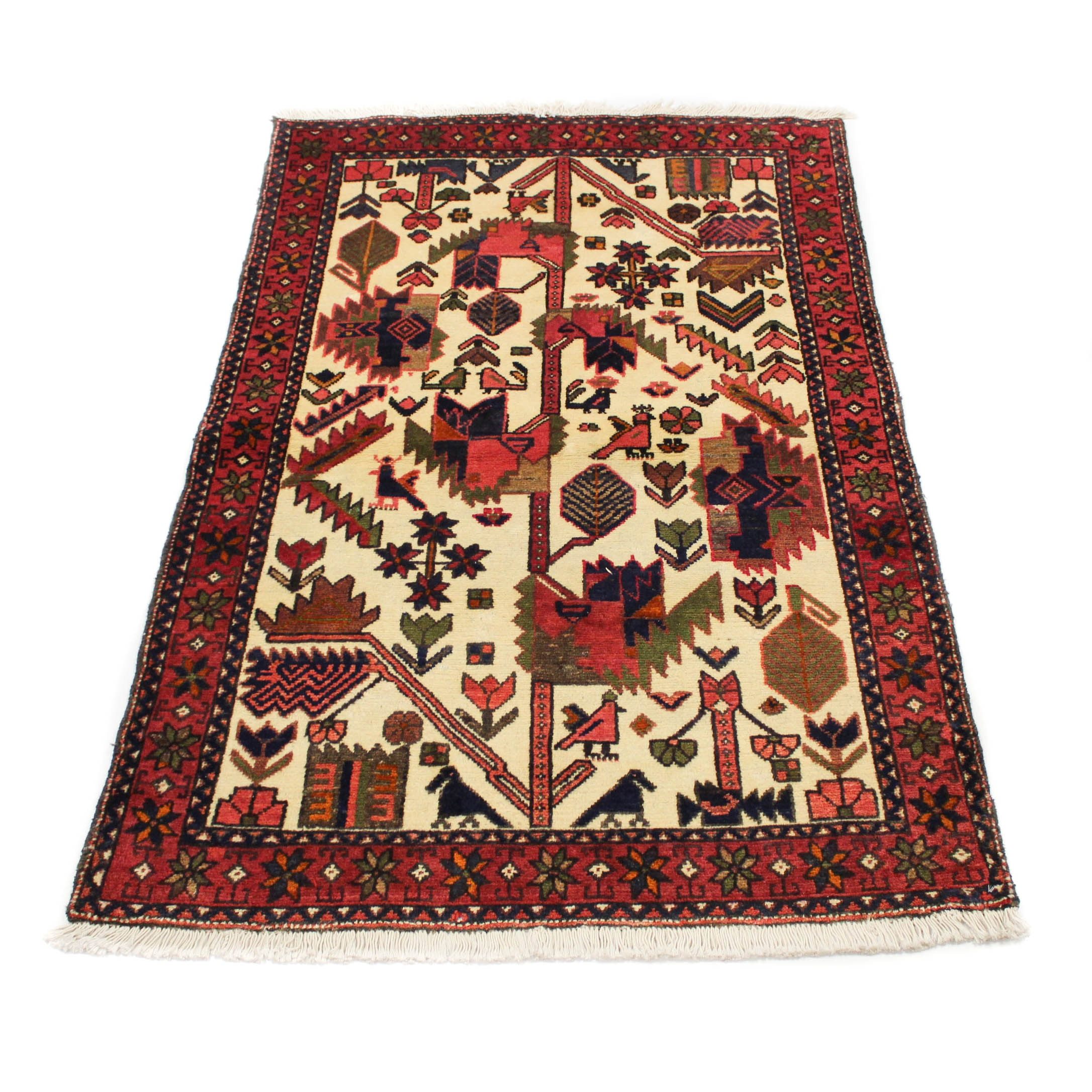 Fine Hand-Knotted Persian Malayer Pictorial Area Rug