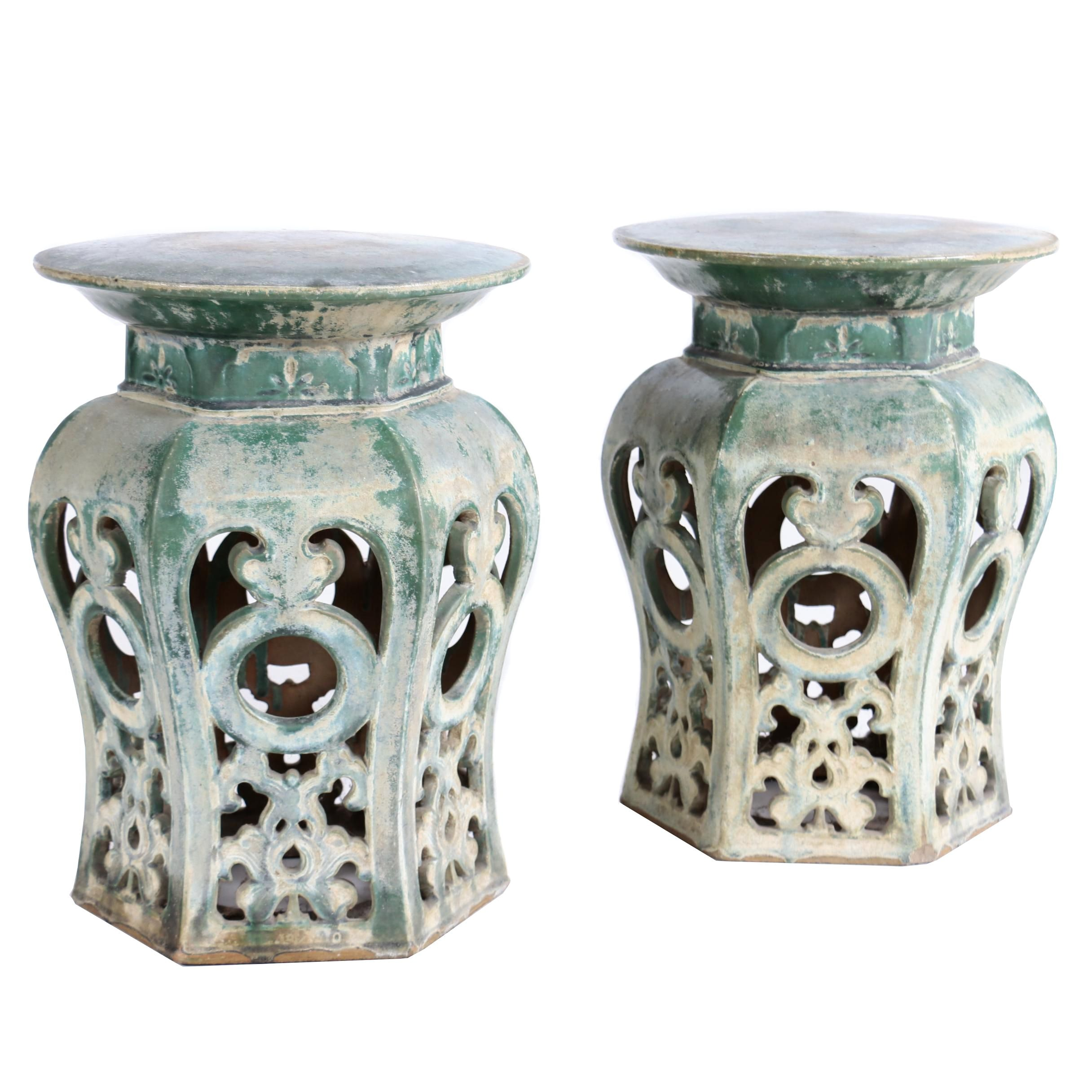 Early Qing Dynasty Chinese Ceramic Garden Seats