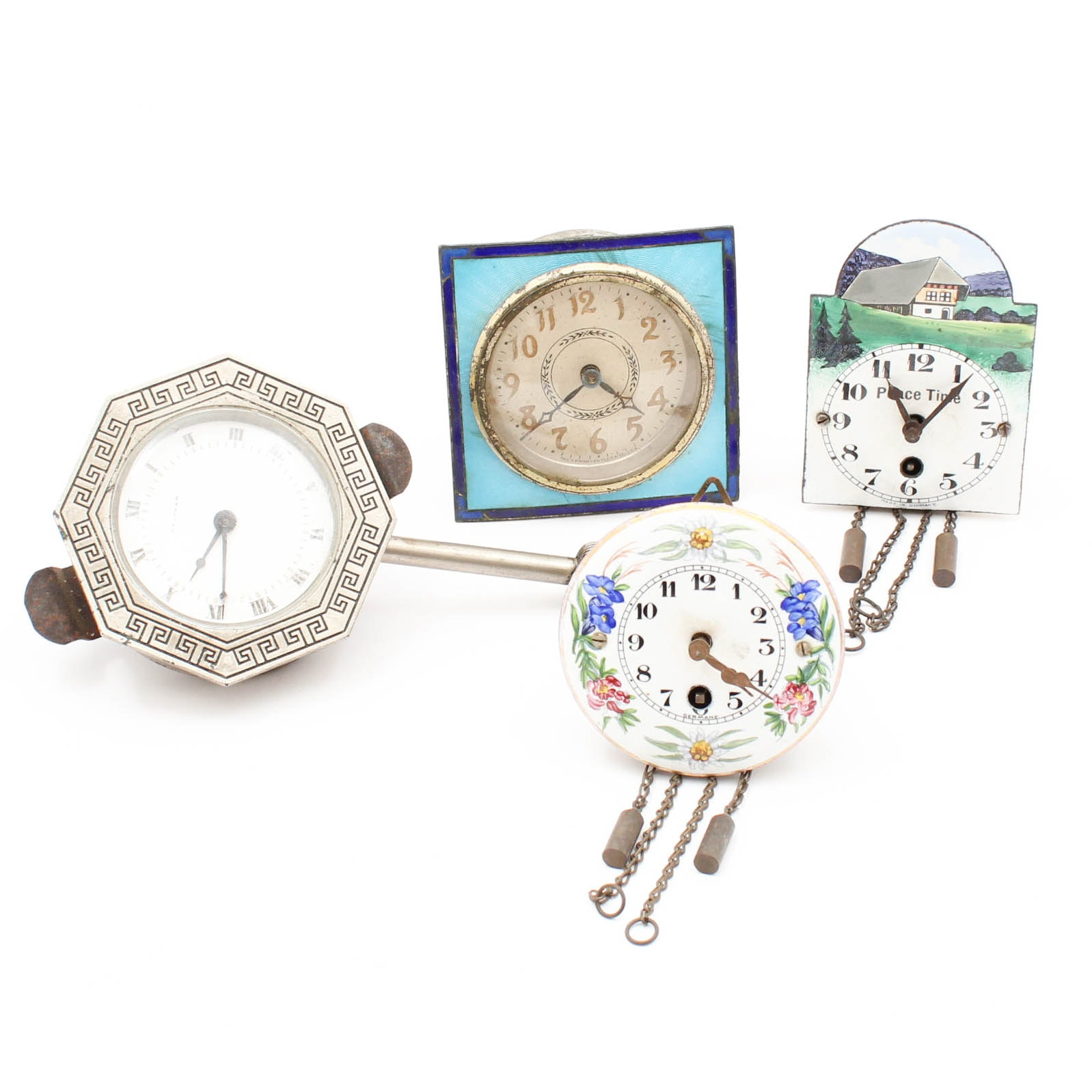 Small Clocks Featuring Waltham and The Newhaven Clock Co.