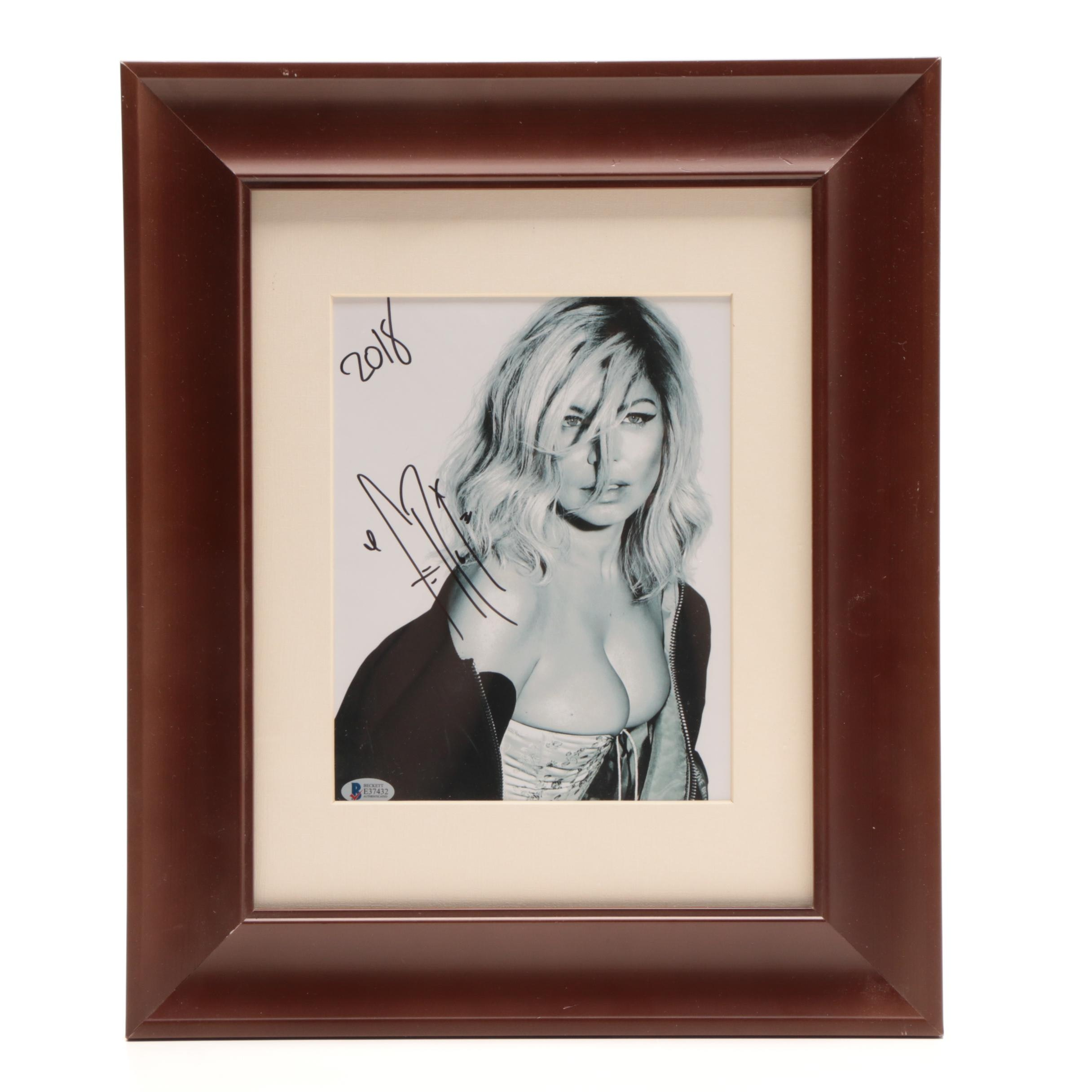 "Fergie From ""The Black Eye Peas"" Signed Matted and Framed Display COA"