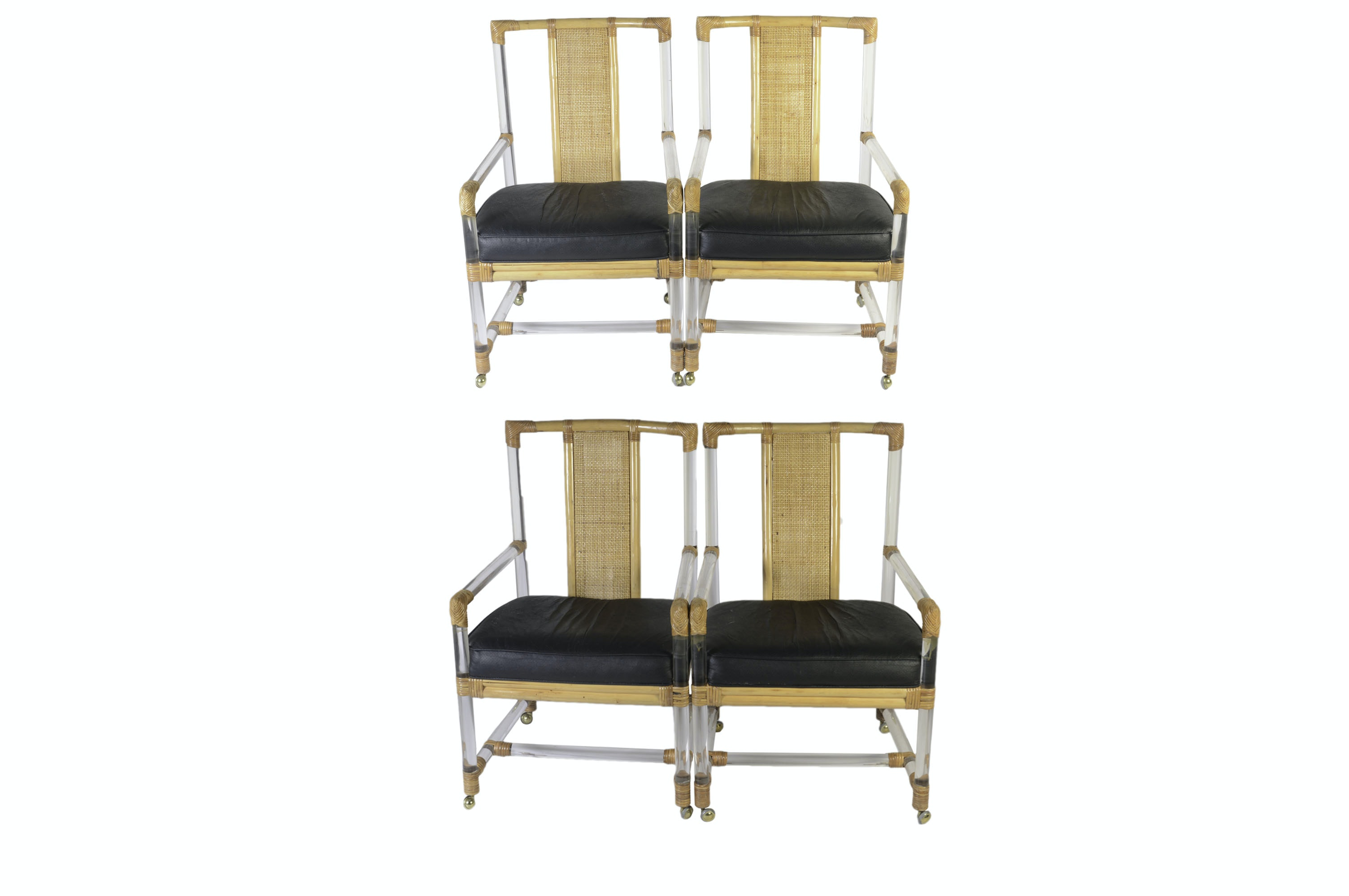Lucite Cane Armchairs