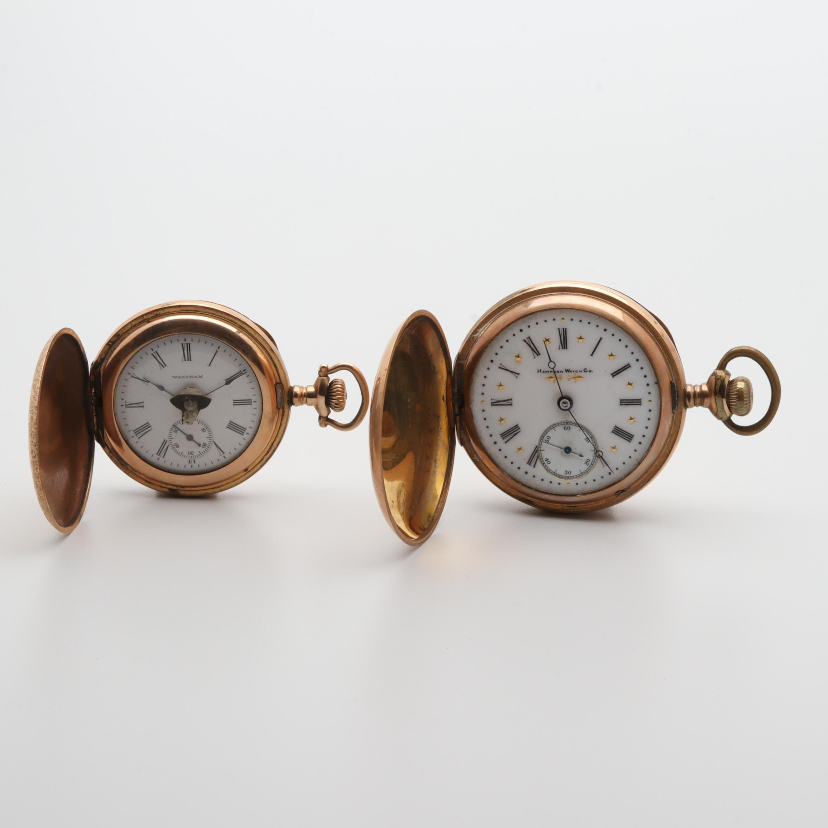 Antique Waltham and Hampden Watch Co. Pocket Watches