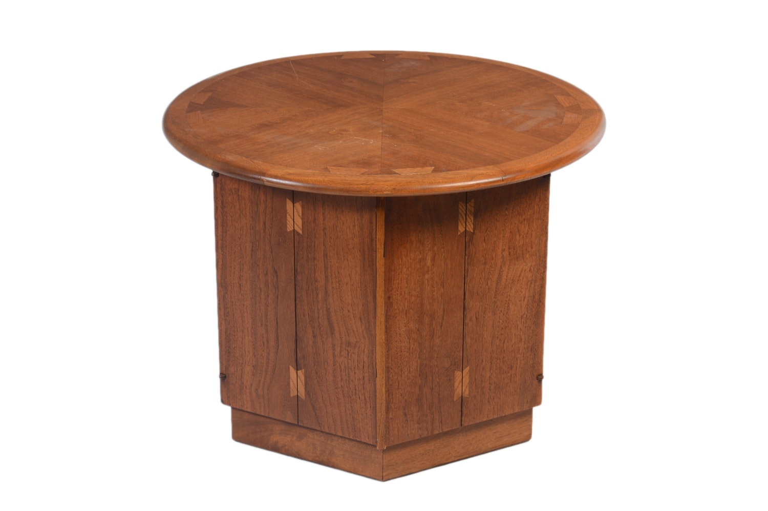"Vintage ""Acclaim"" Walnut End Table Cabinet by Lane"