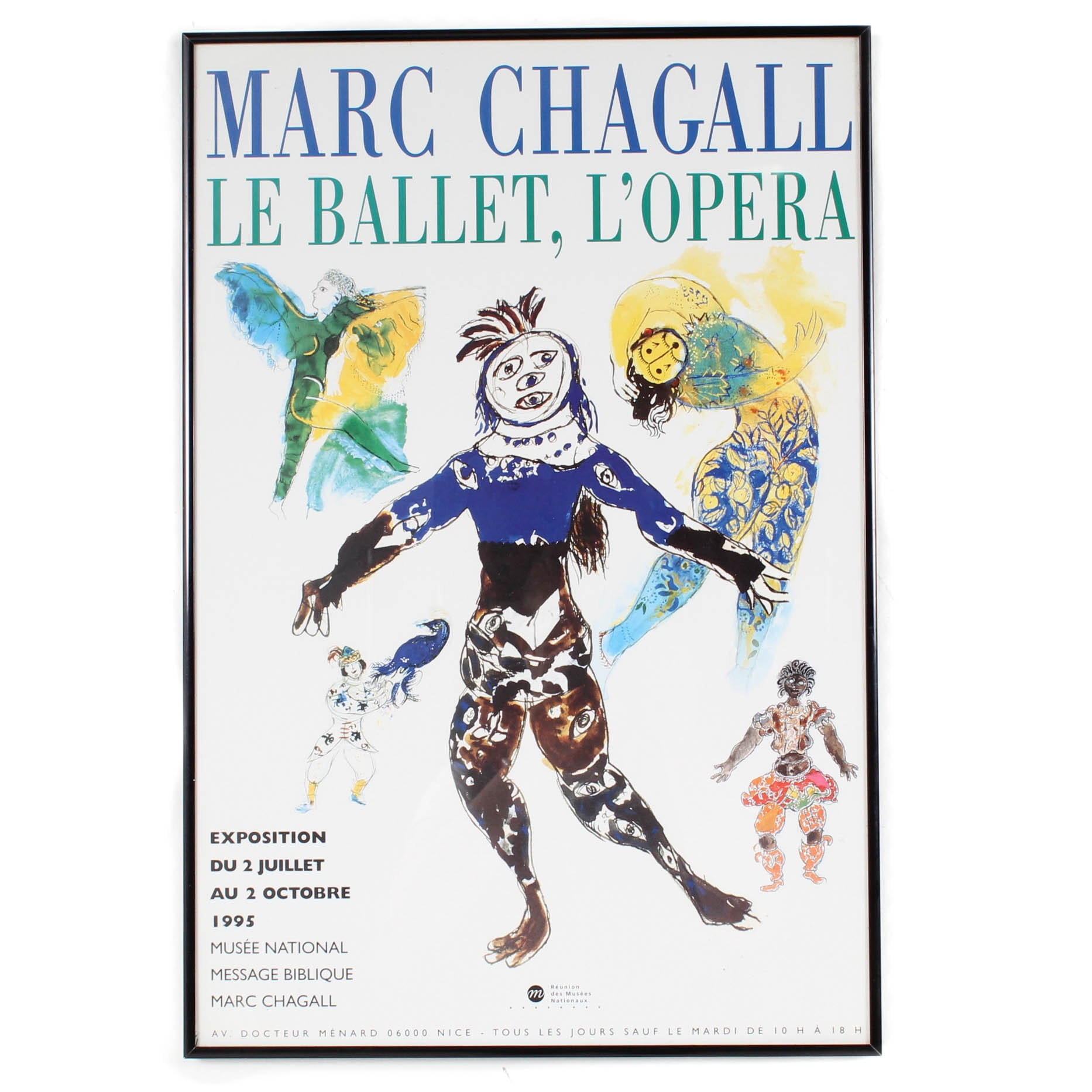French Marc Chagall Exhibition Poster