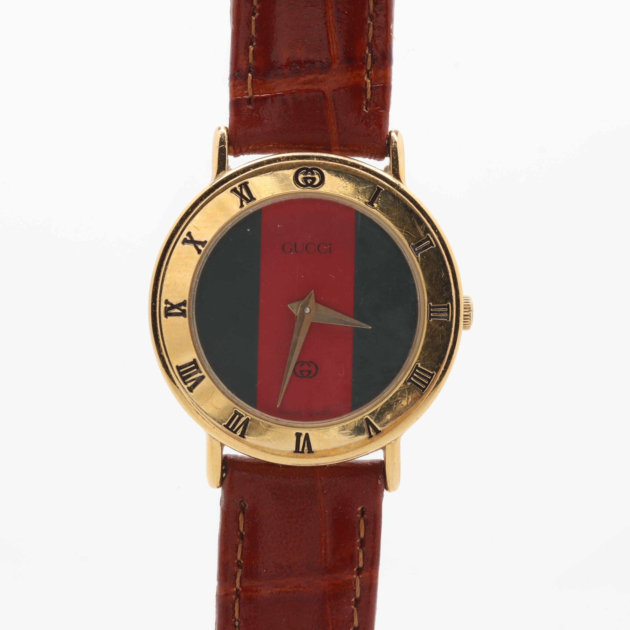 Gucci 3000L Gold Tone Wristwatch