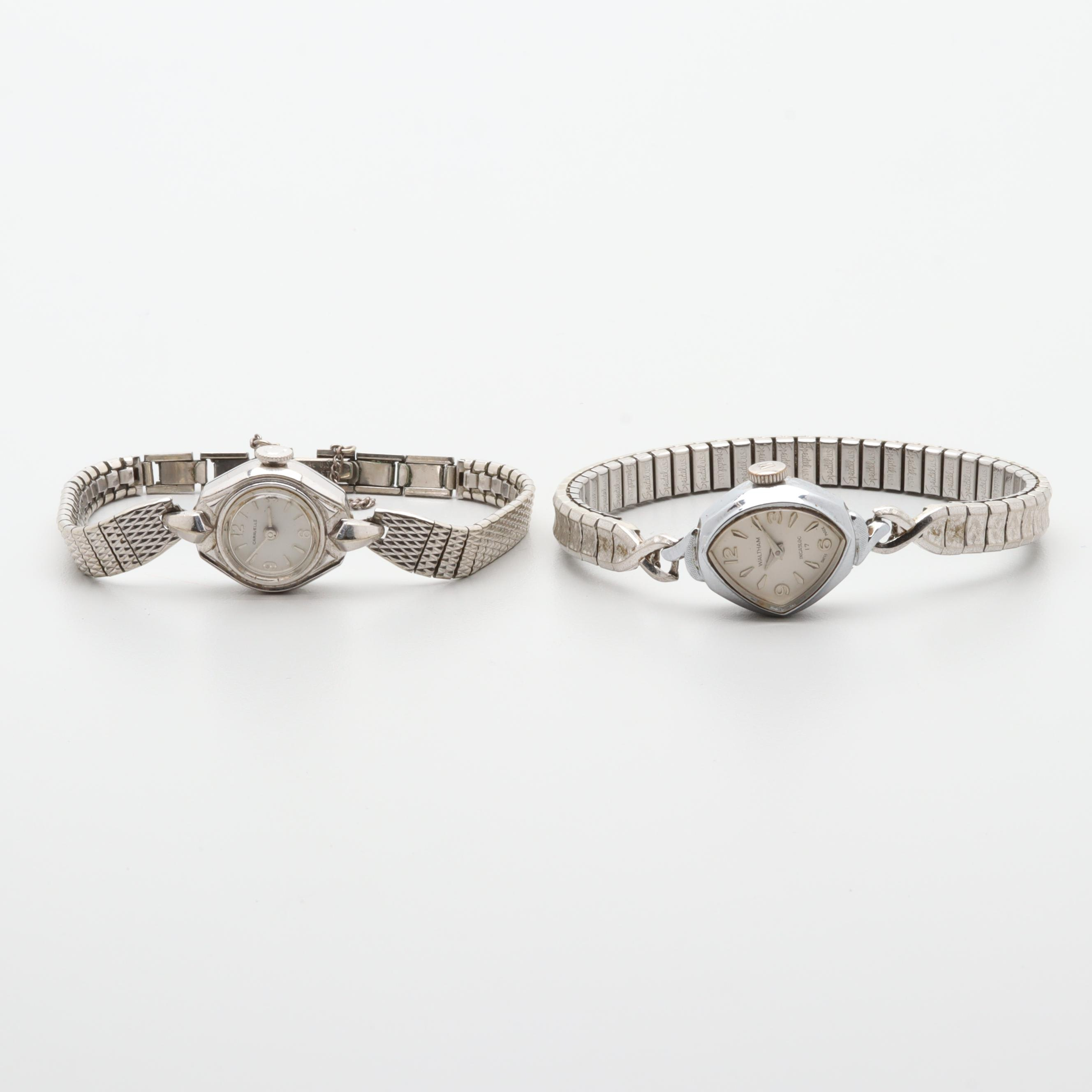 Waltham and Caravelle Stem Wind Wristwatches