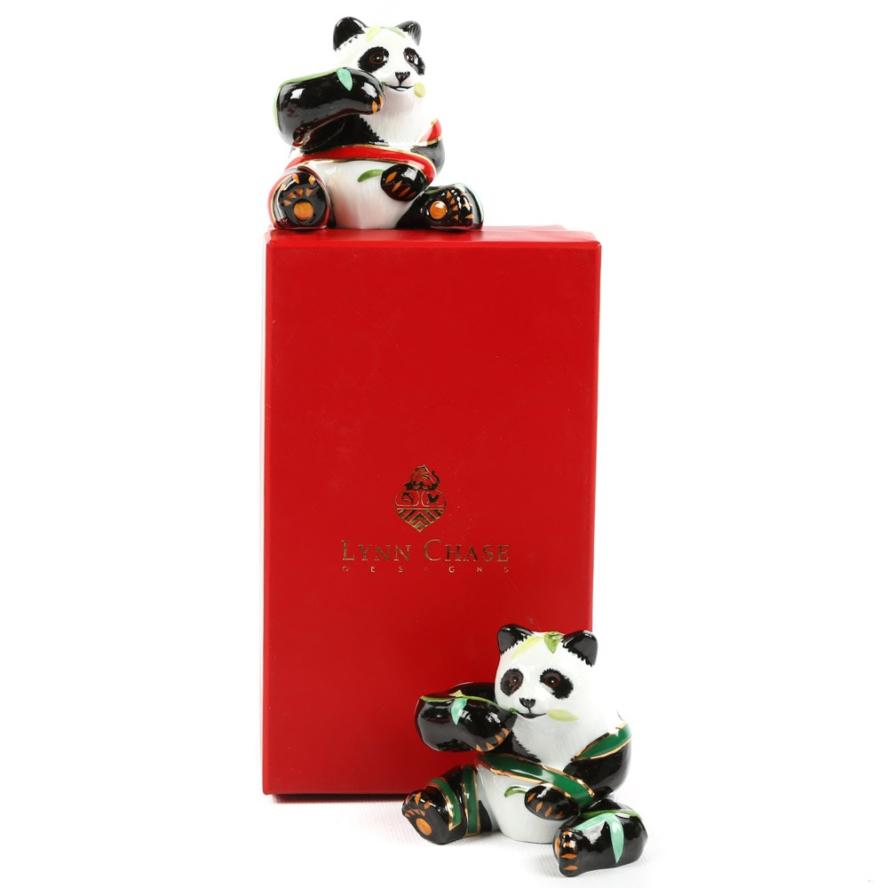 """Lynn Chase """"Panda Perfect"""" Salt and Pepper Shakers"""