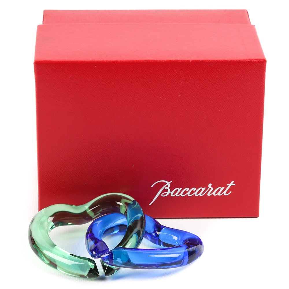 Baccarat Interlocking Crystal Hearts
