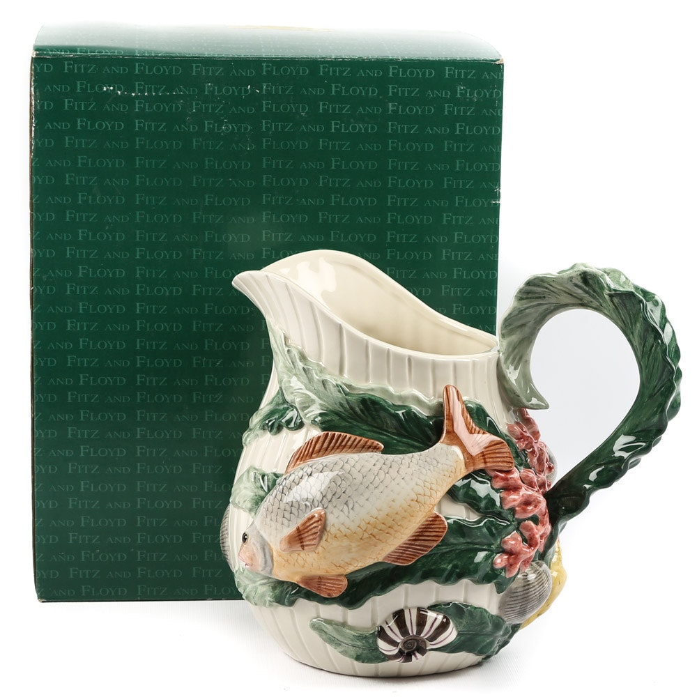 "Fitz and Floyd ""Fish Market"" Pitcher"