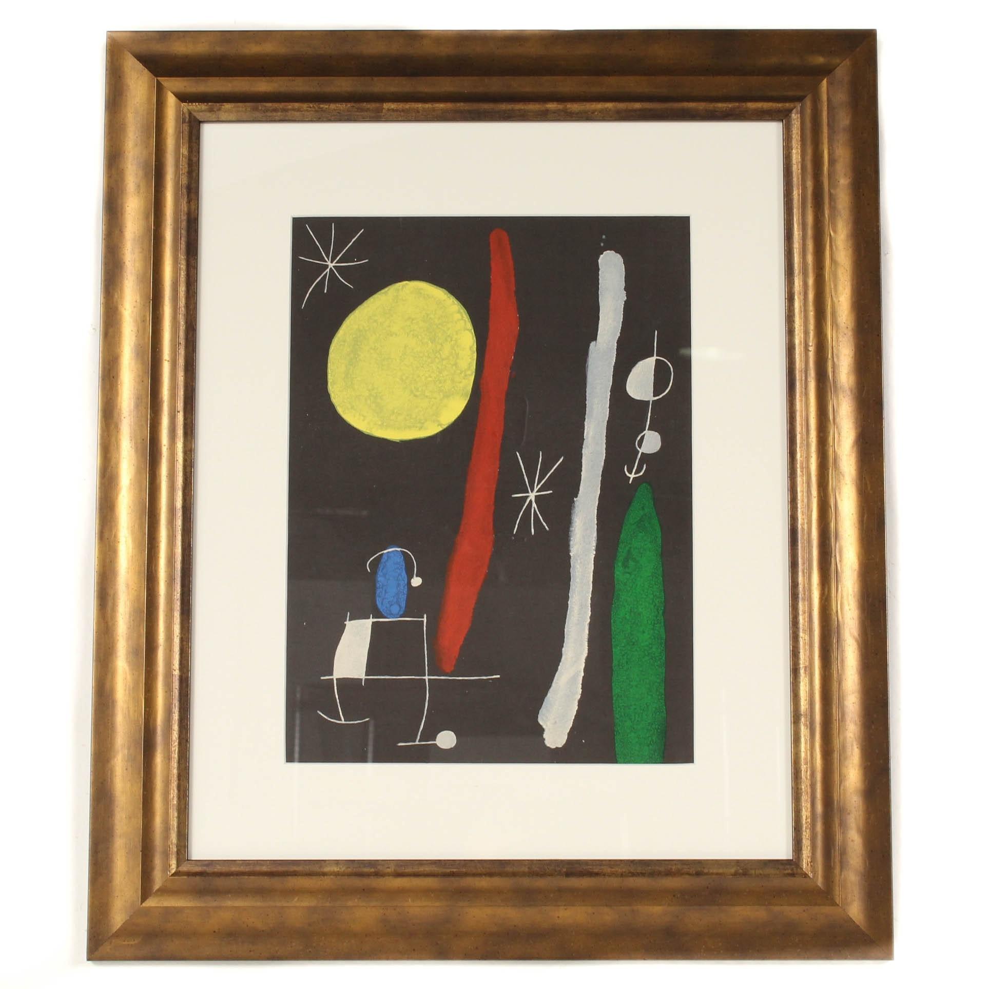 """Joan Miró Color Lithograph for """"Derrière le Miroir"""""""
