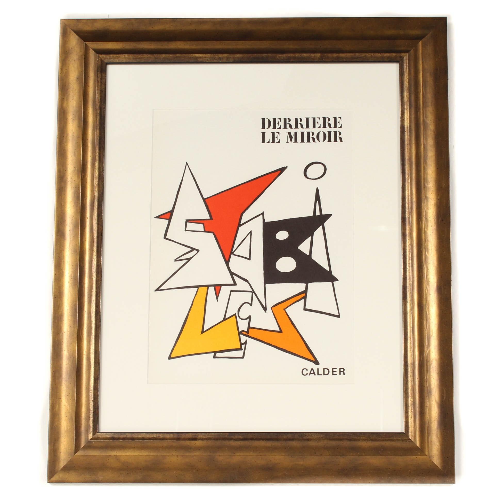 """Alexander Calder Cover Lithograph for """"Derrière le Miroir"""""""