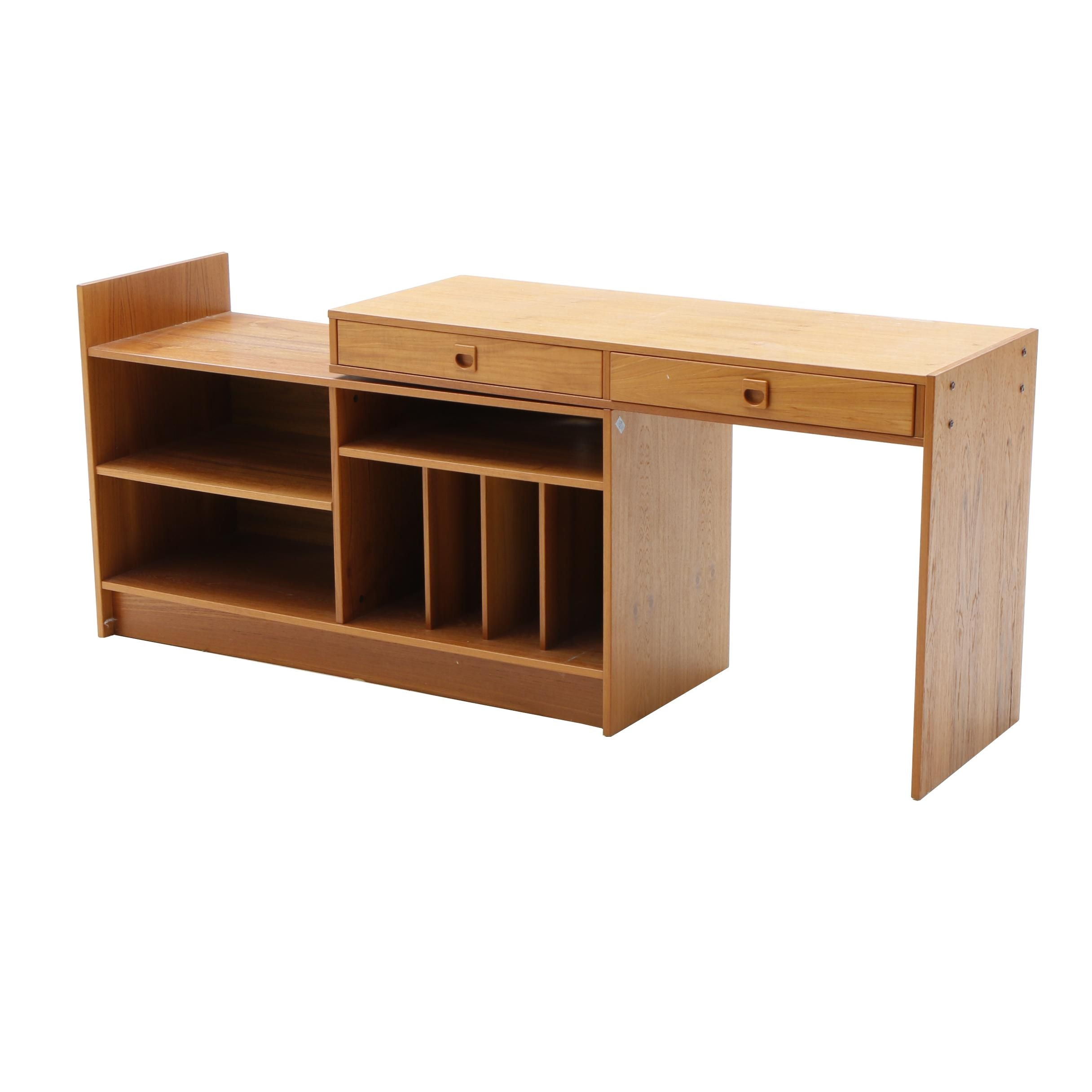 Danish Modern Conversion Cabinet Desk