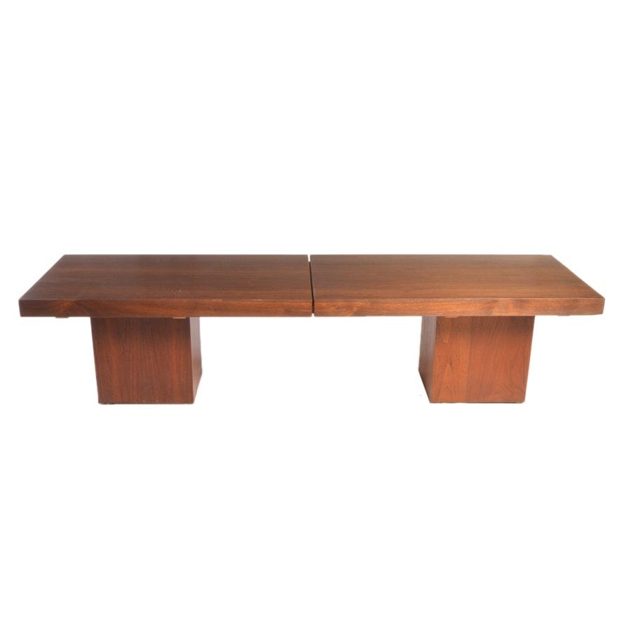 Mid Century Modern John Keal For Brown Saltman Extendable Coffee Table