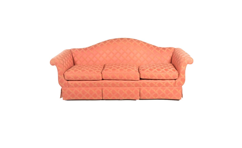 Vintage Pink Upholstered Sofa by Baker Furniture