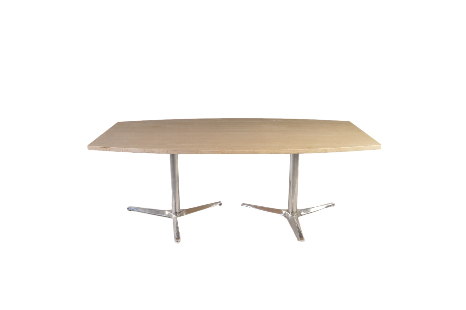Travertine Top Surfboard Dining Table