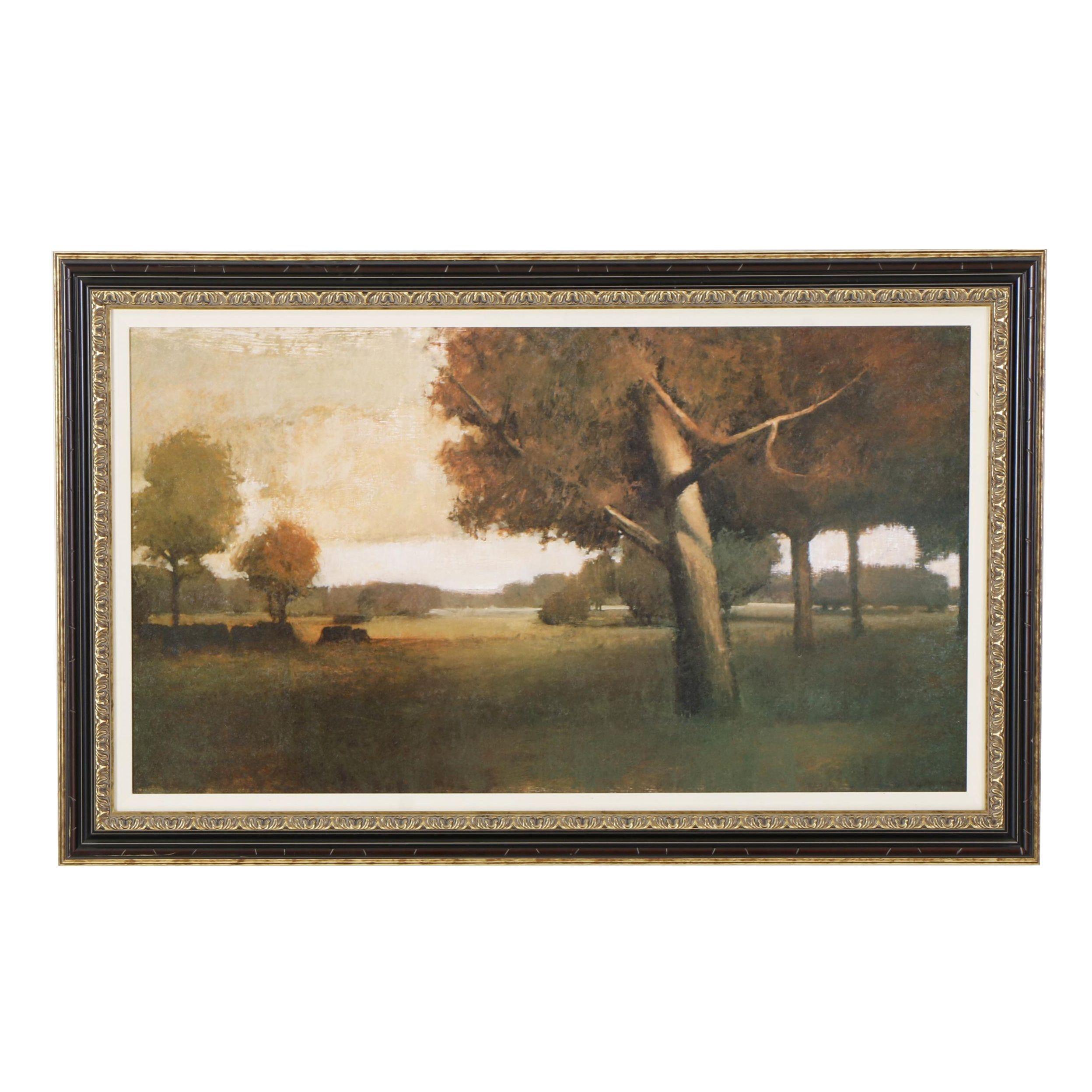 Offset Lithograph of Landscape after Seth Winegar