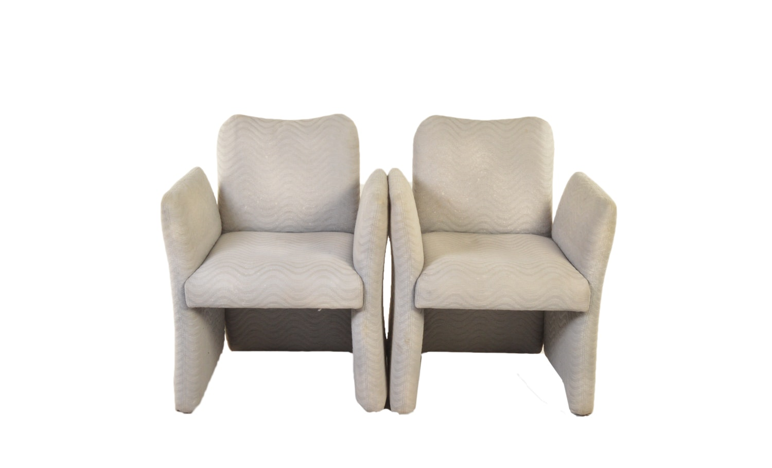 Vintage Milo Baughman Upholstered Armchairs